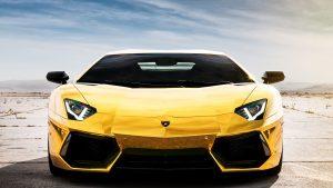 Gold Lamborghini wallpapers