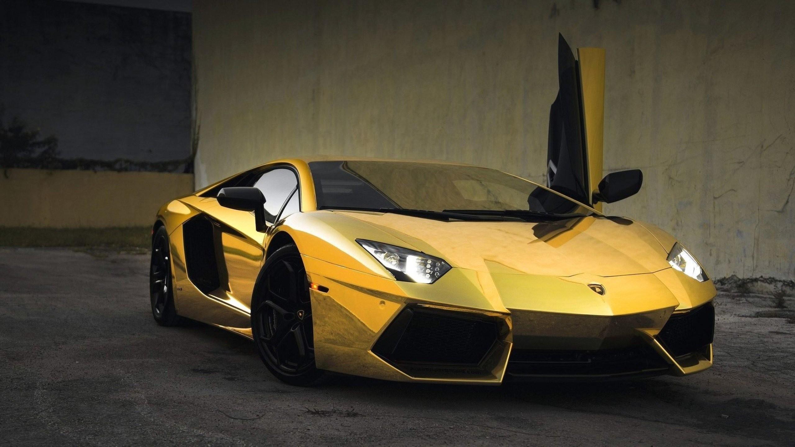 Gold Lamborghini Wallpapers Hd Wallpaper Collections