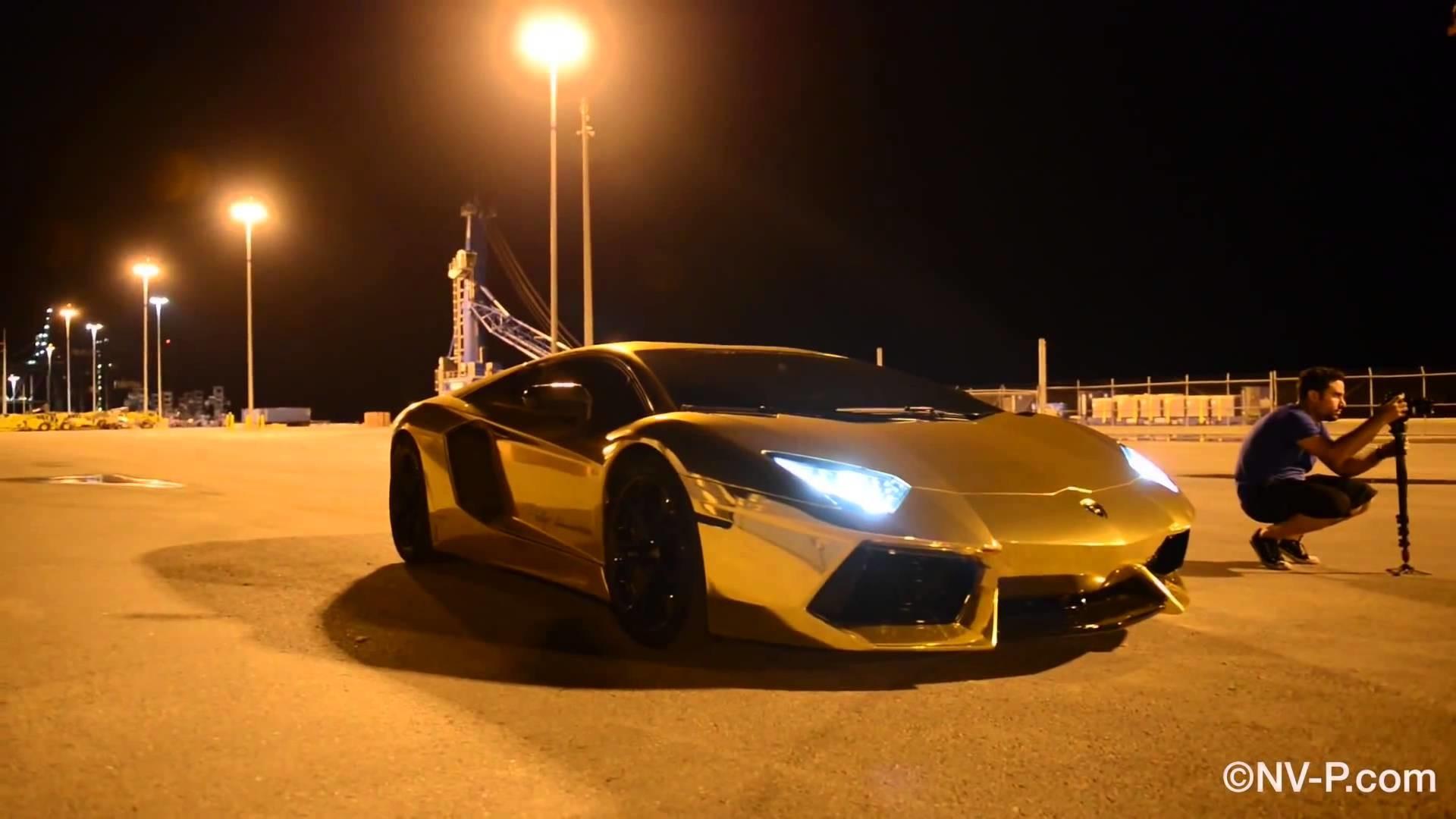 Res: 1920x1080, Lamborghini in Gold