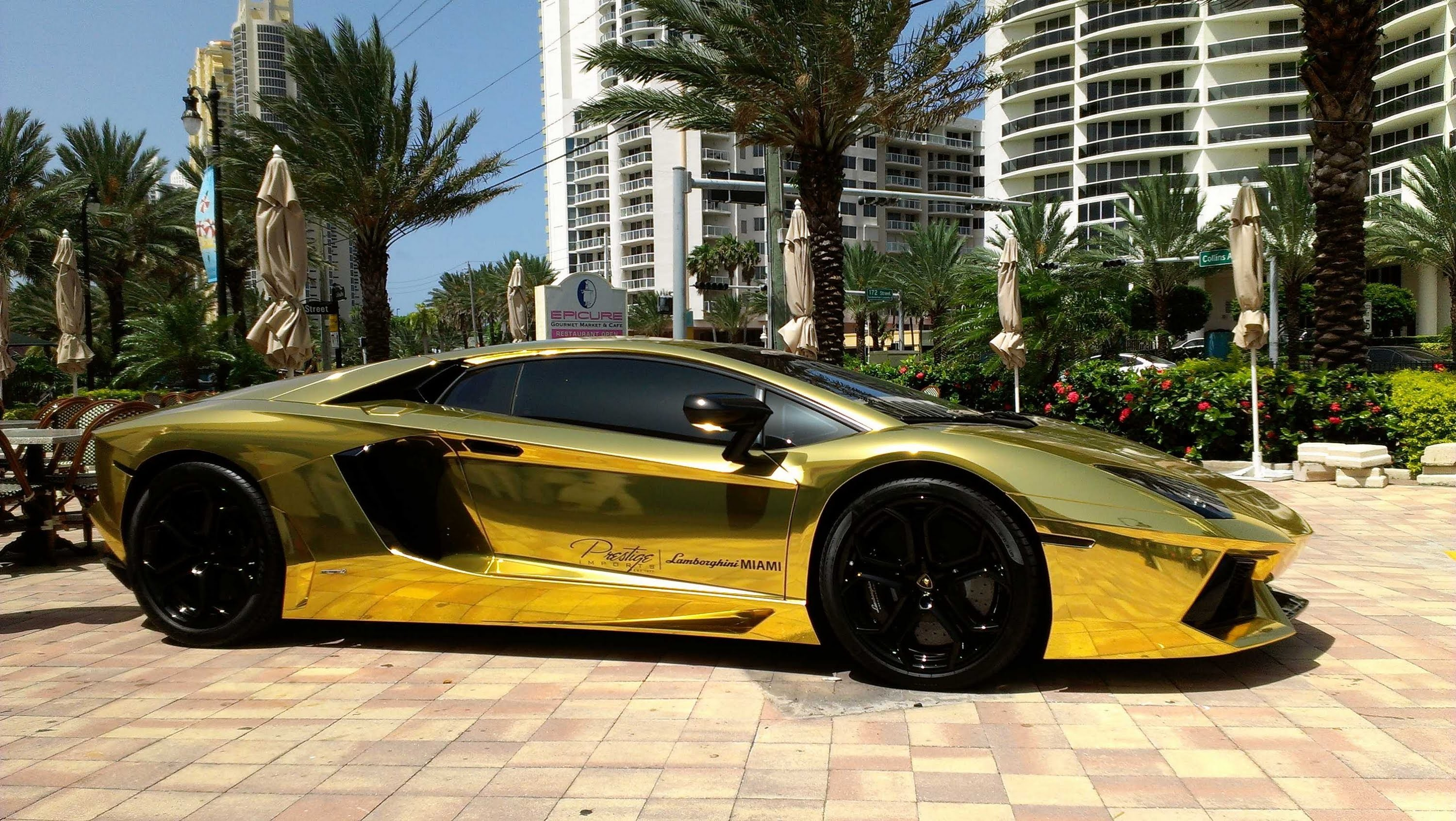 Res: 3000x1691, First Gold Plated Lamborghini Aventador LP700-4 Better only Lamborghini  Veneno,Lamborghini Egoista - YouTube