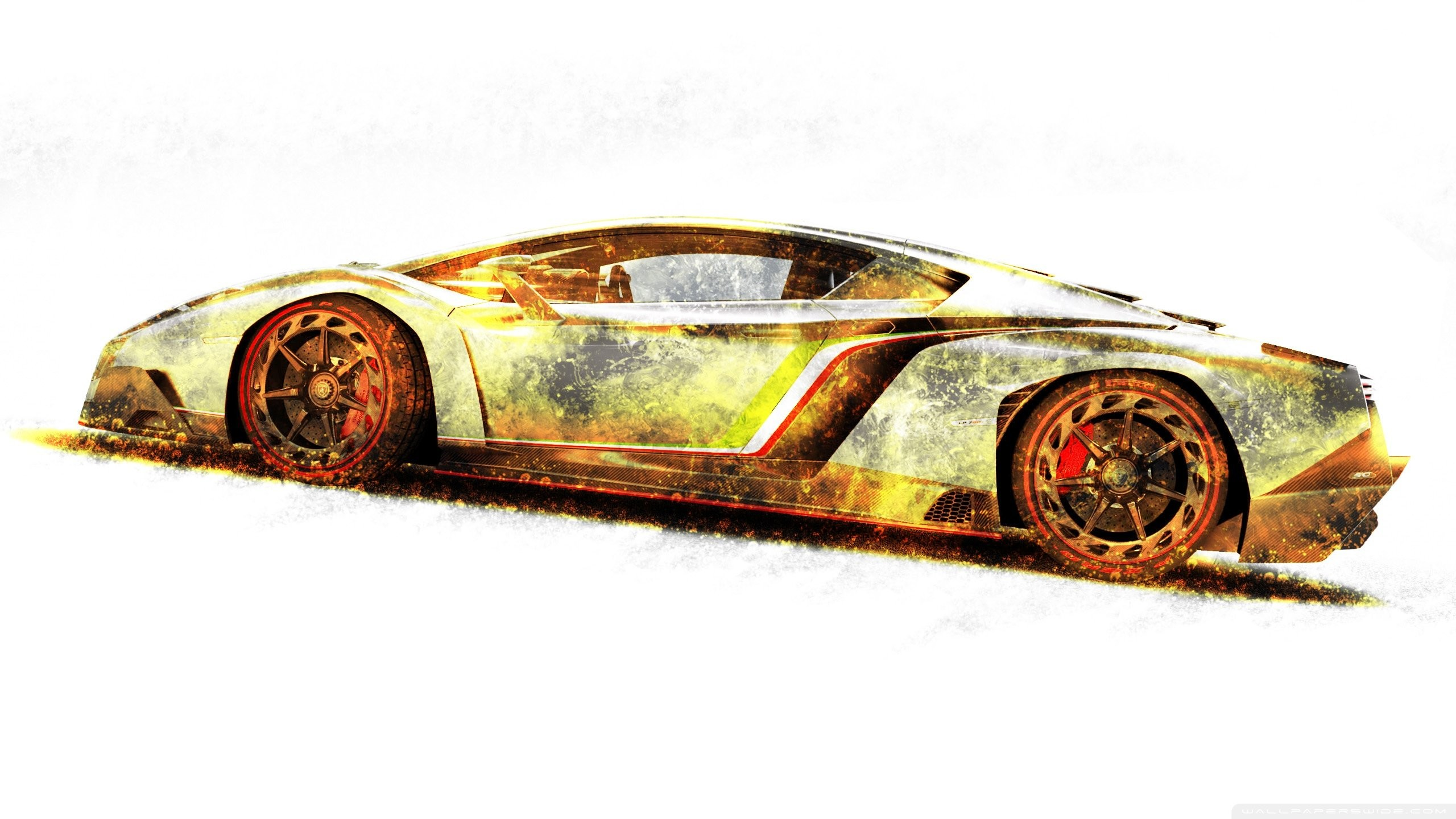 Res: 2560x1440, Lamborghini veneno gold edition-wallpaper- wallpaper       238459   WallpaperUP