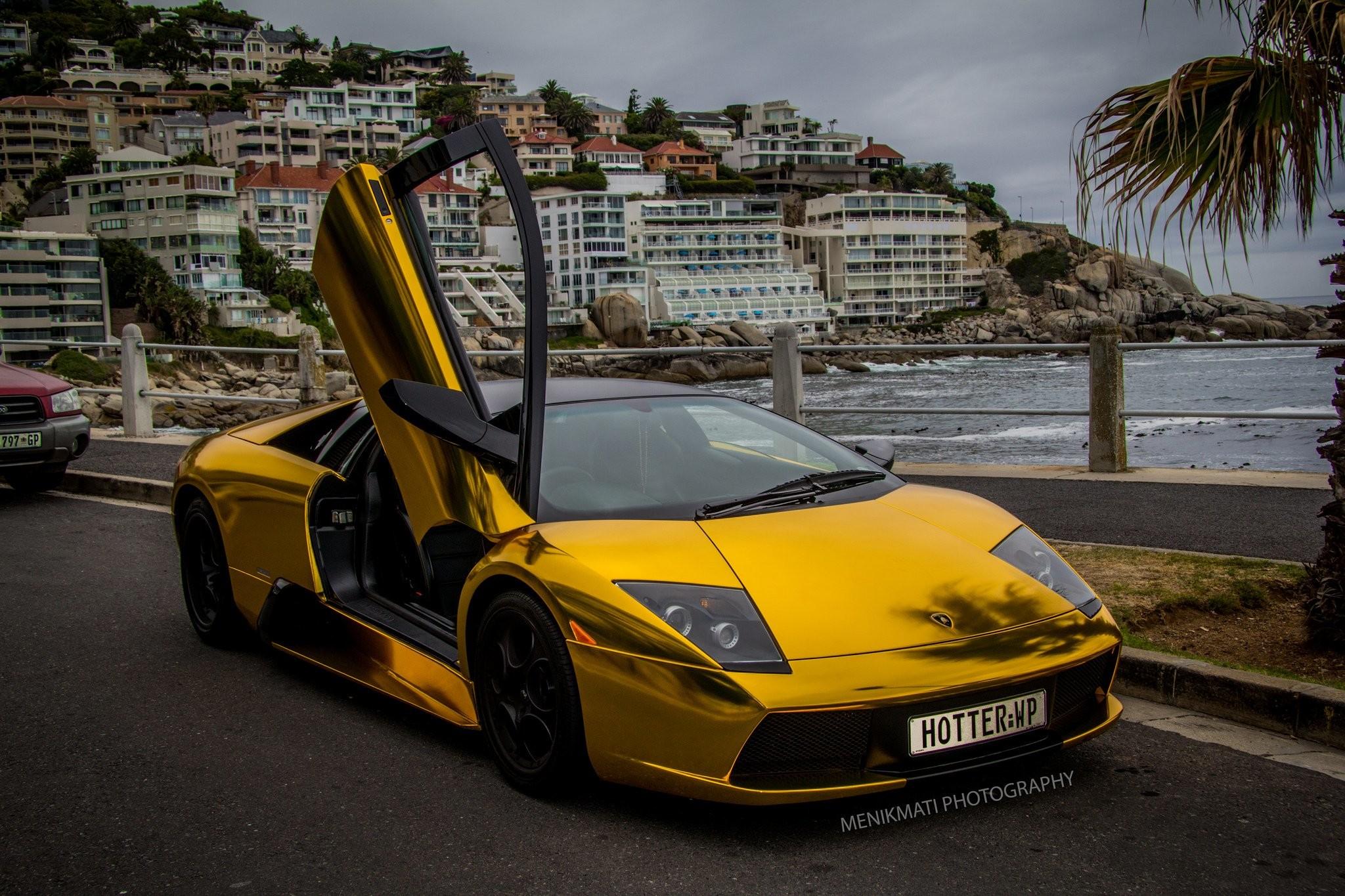 Res: 2048x1365, Lamborghini Murcielago gold chrome coupe Vinyl wrap cars supercars wallpaper       609403   WallpaperUP