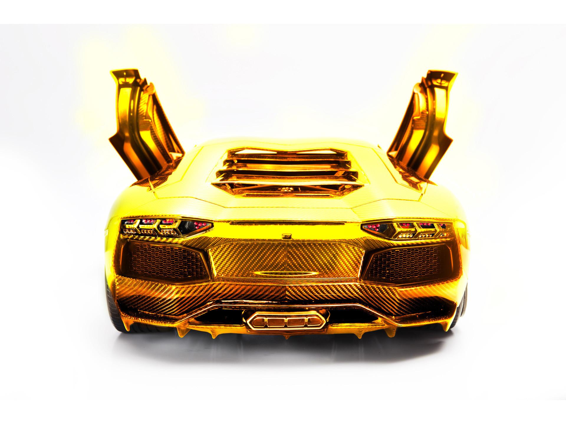 Res: 1920x1440, 2012 Lamborghini Aventador LP 700-4 Model by Robert Gulpen Engineering -  Gold Rear Open Doors -  - Wallpaper