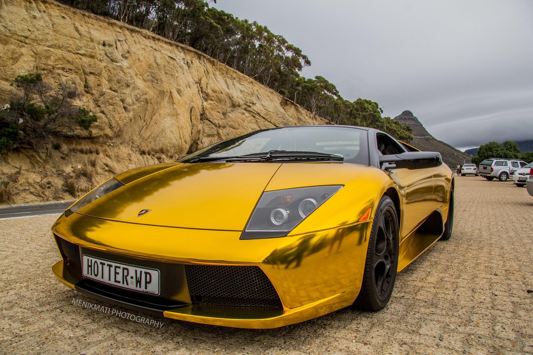 Res: 2048x1365, Lamborghini Murcielago gold chrome coupe Vinyl wrap cars supercars wallpaper       609400   WallpaperUP