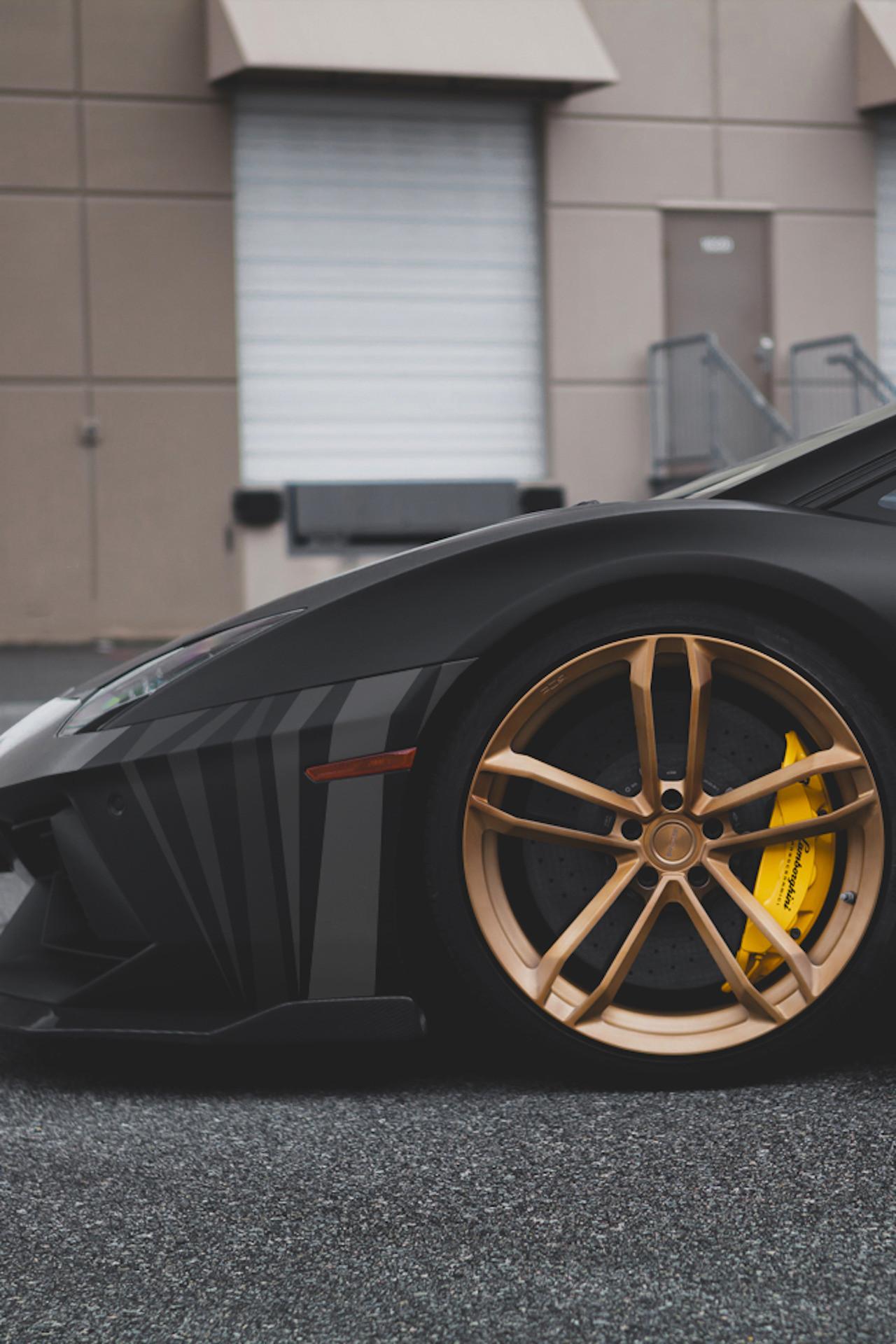 Res: 1280x1920, car lamborghini aventador black gold