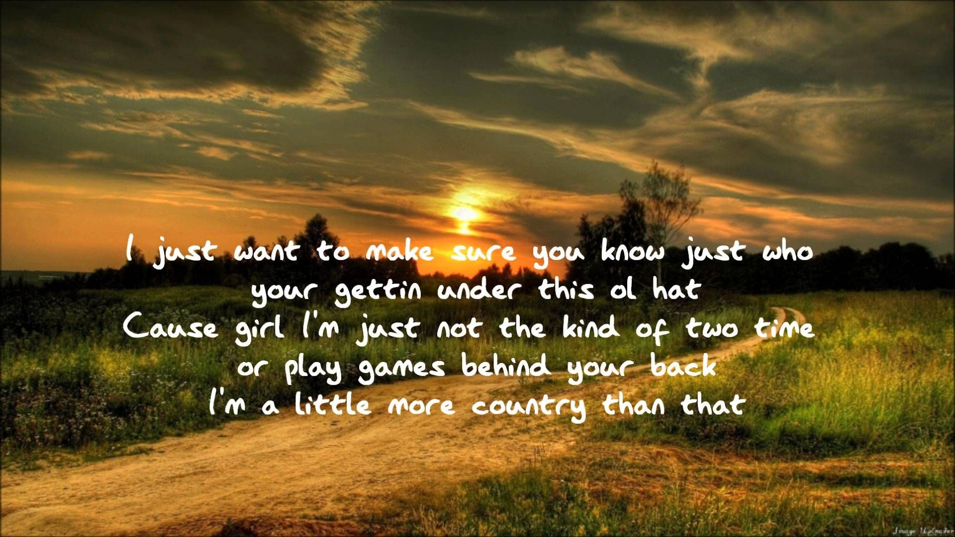Res: 1920x1080, Im A Little More Country Than That- Easton Corbin