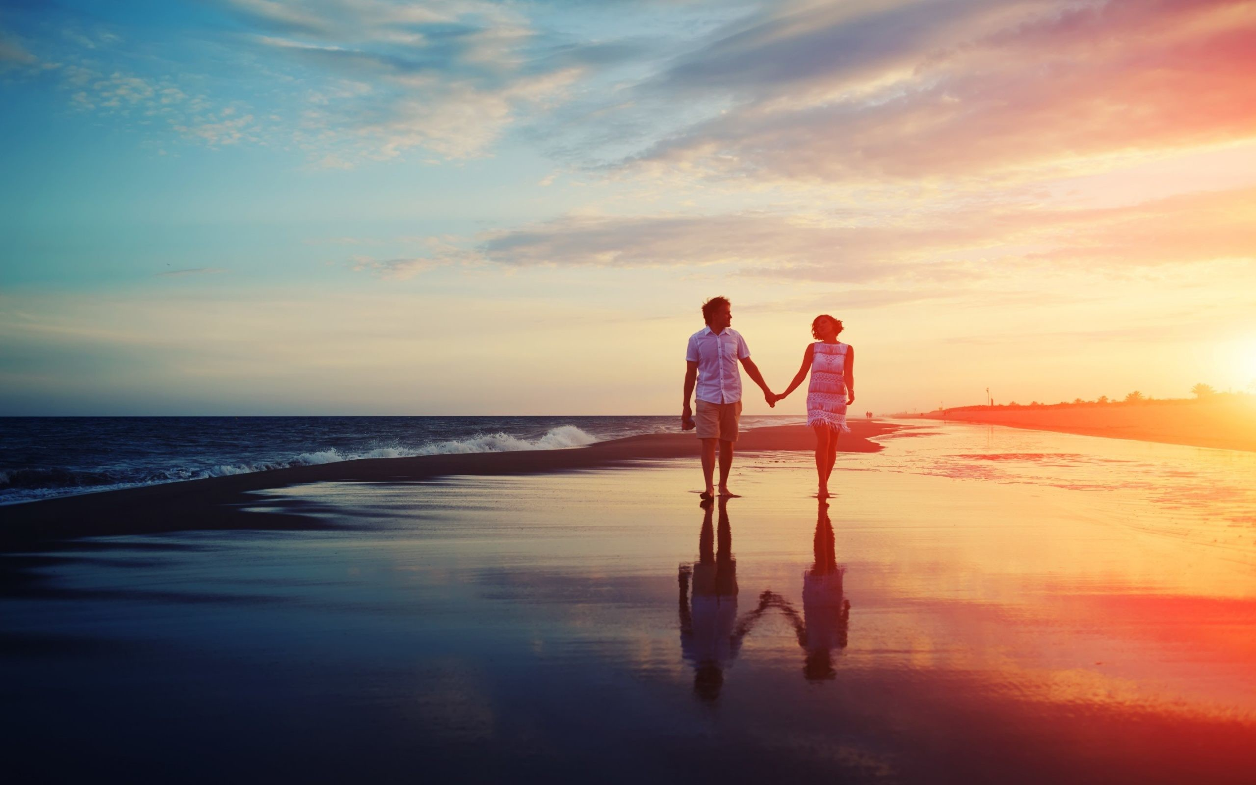 Res: 2560x1600, Loving Couple On Beach Love Wallpaper Hd 1080p Download Couples Romantic.  cheap home decor stores ...