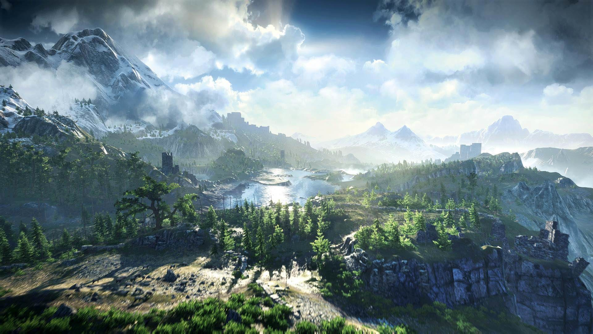 Res: 1920x1080, The Witcher 3: Wild Hunt Beautiful Landscape – 1920×1080 – Full HD 16/9 –  Wallpaper #4461 on WallpaperMade – Adorable Wallpapers