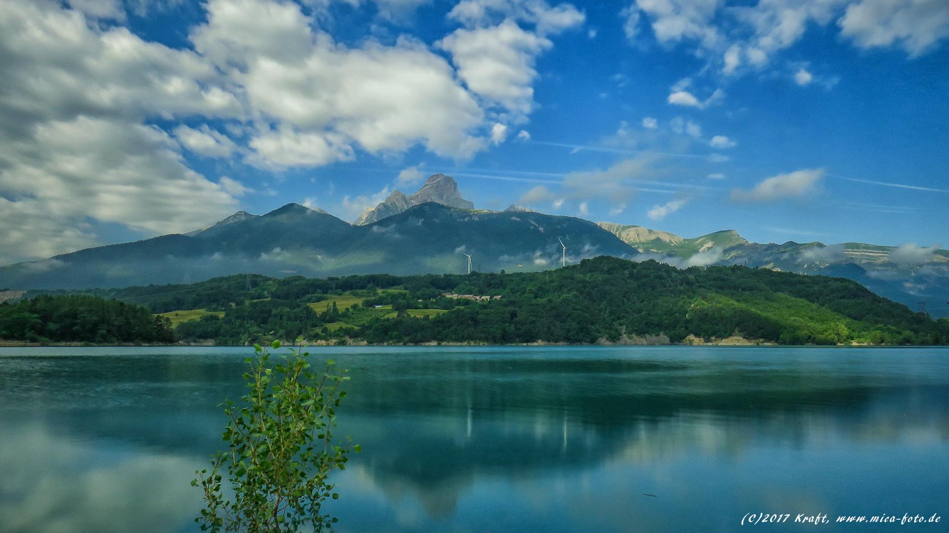 Res: 1920x1080, Wallpaper HD 16:9 Lac du Sautet am Morgen