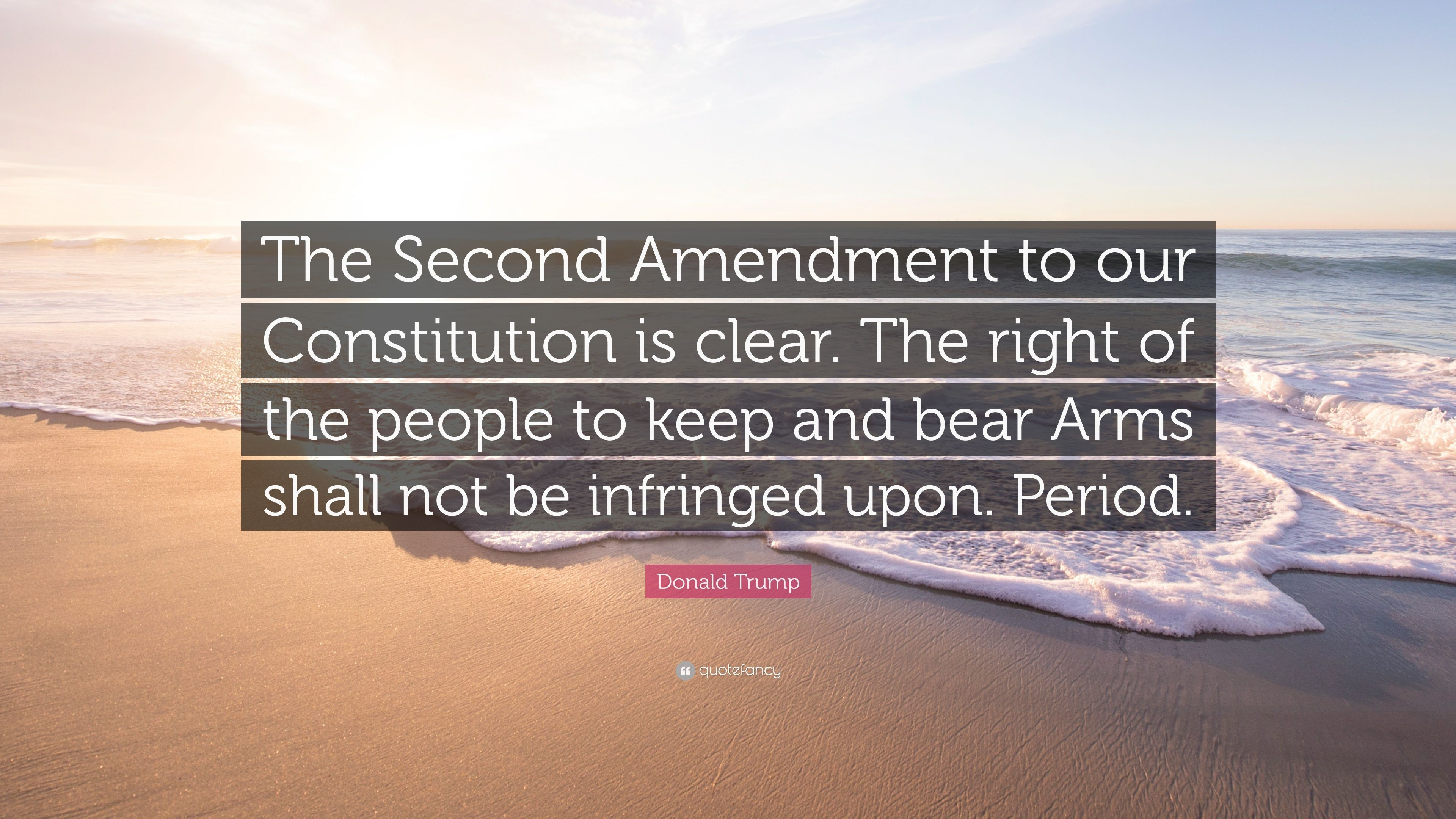 "Res: 3840x2160, Donald Trump Quote: ""The Second Amendment to our Constitution is clear. The  right"