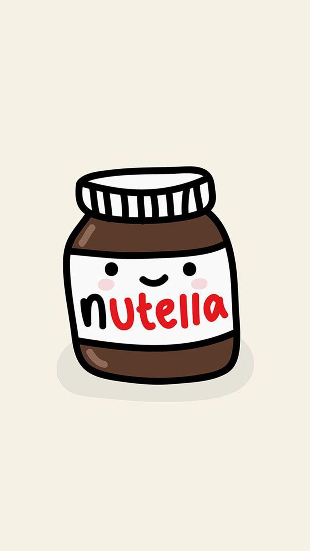 Res: 1080x1920, Cute Nutella Jar Illustration iPhone 6+ HD Wallpaper