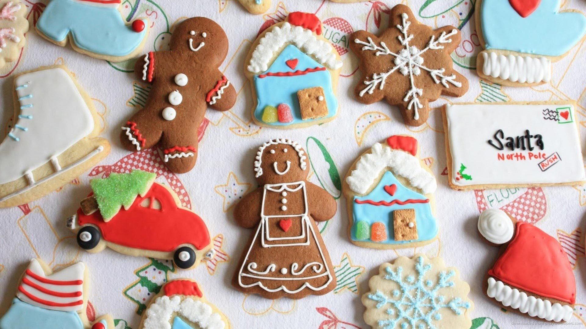 Res: 1920x1080, Cute Christmas Cookies Wallpaper