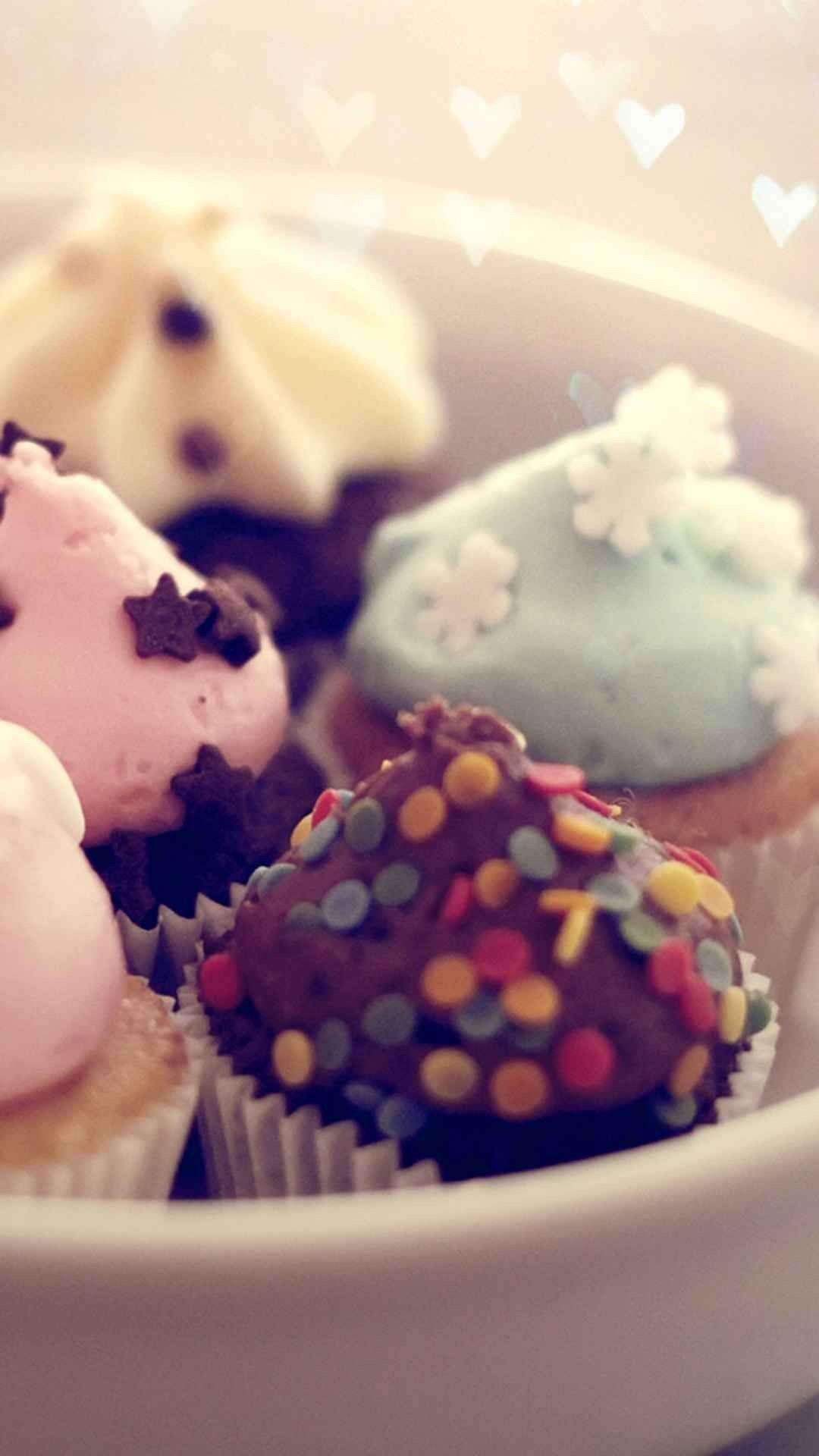 Res: 1080x1920, Pastel Cupcakes Macro Bokeh Cute Dessert android wallpaper HD