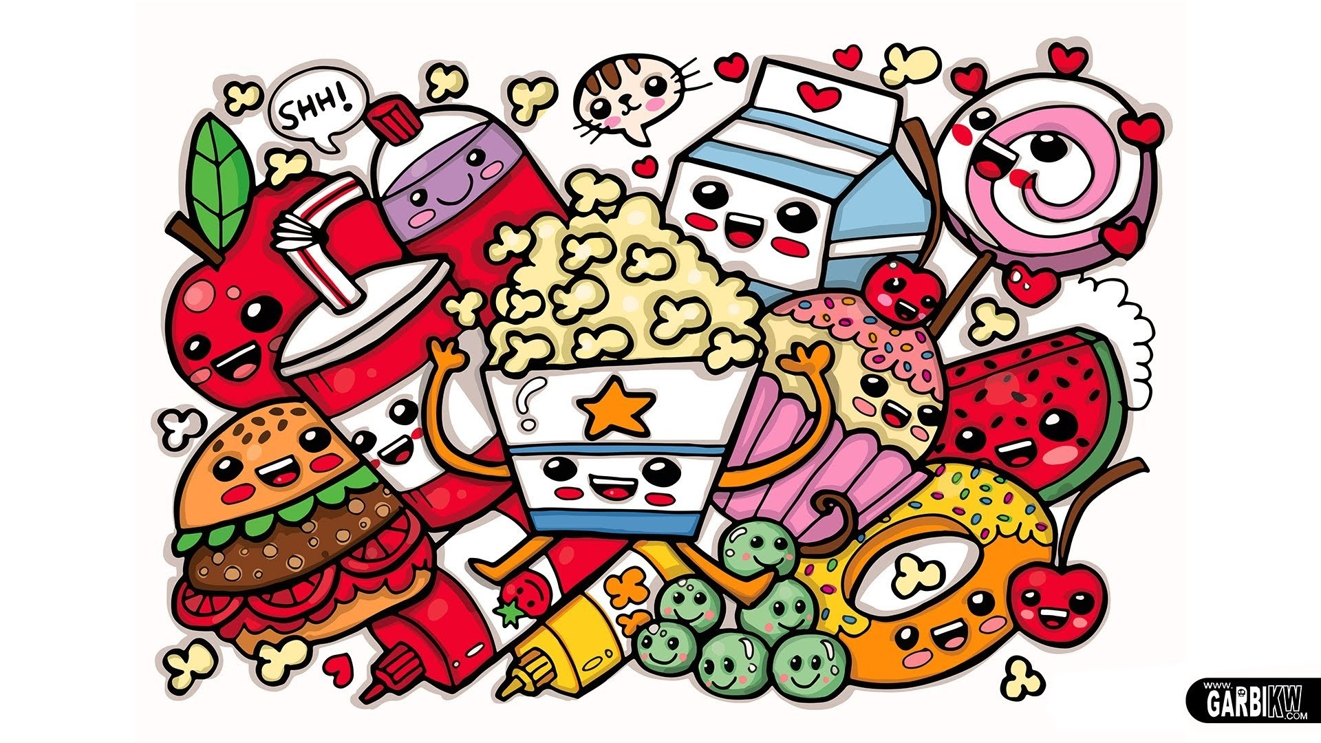 Res: 1920x1080, cute food coloring pages To Print - 006