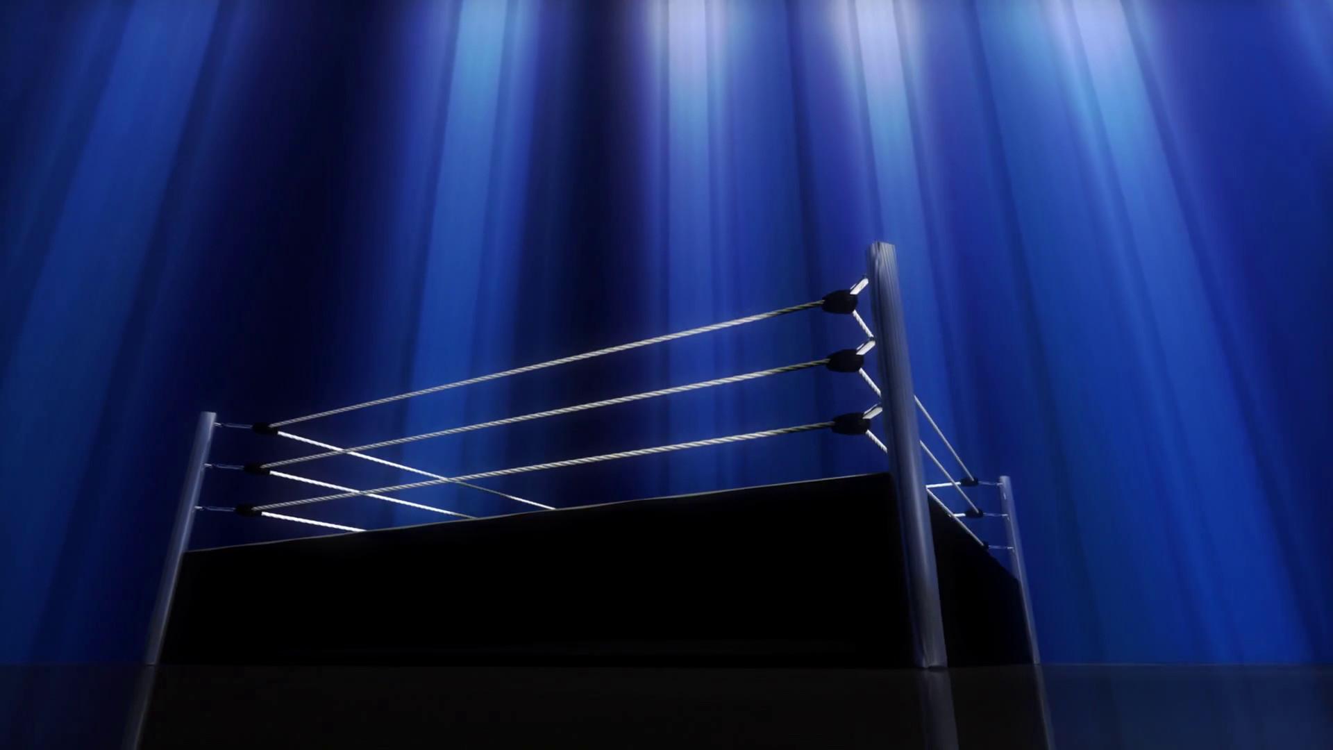 Res: 1920x1080, Blue Light Wrestling Boxing Ring Rotating Background Motion Background -  Videoblocks