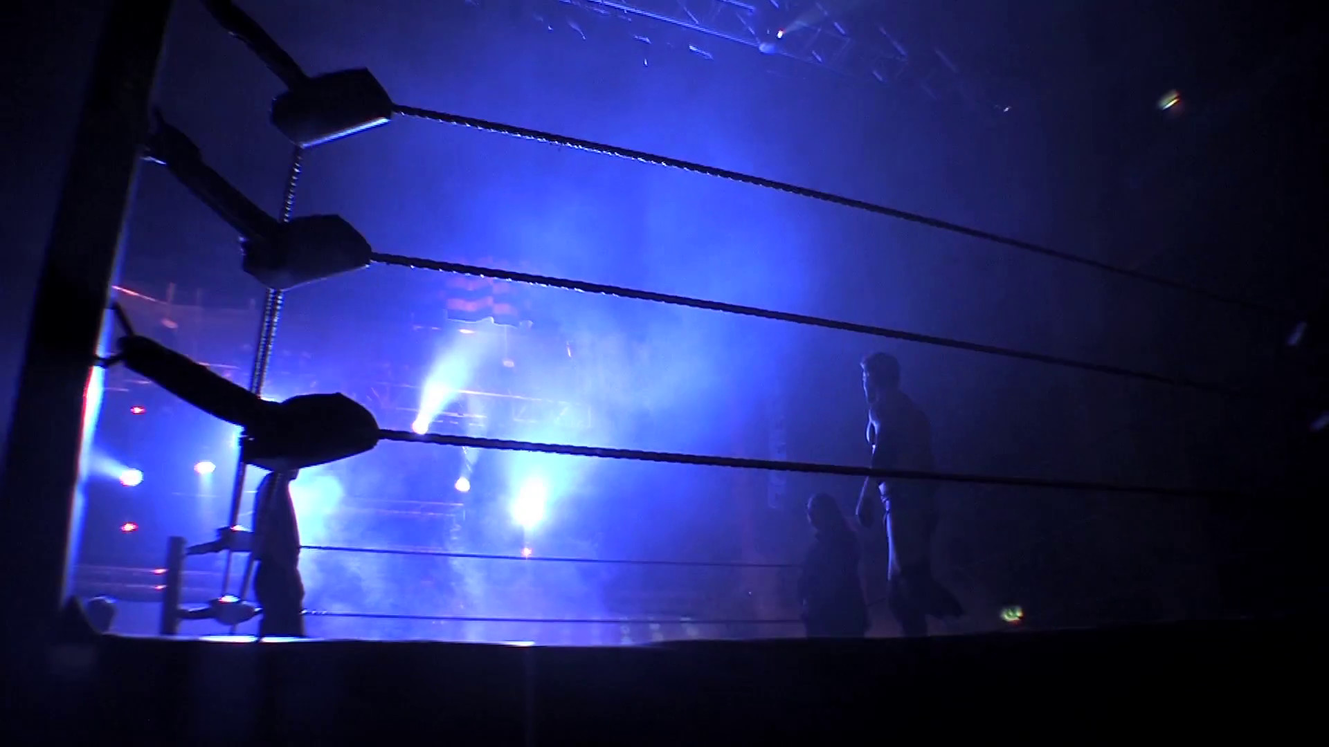 Res: 1920x1080, Silhouette of Wrestling / Boxing Ring Ropes & Silhouetted Wrestler in Ring  with Cool Lighting Stock Video Footage - Videoblocks