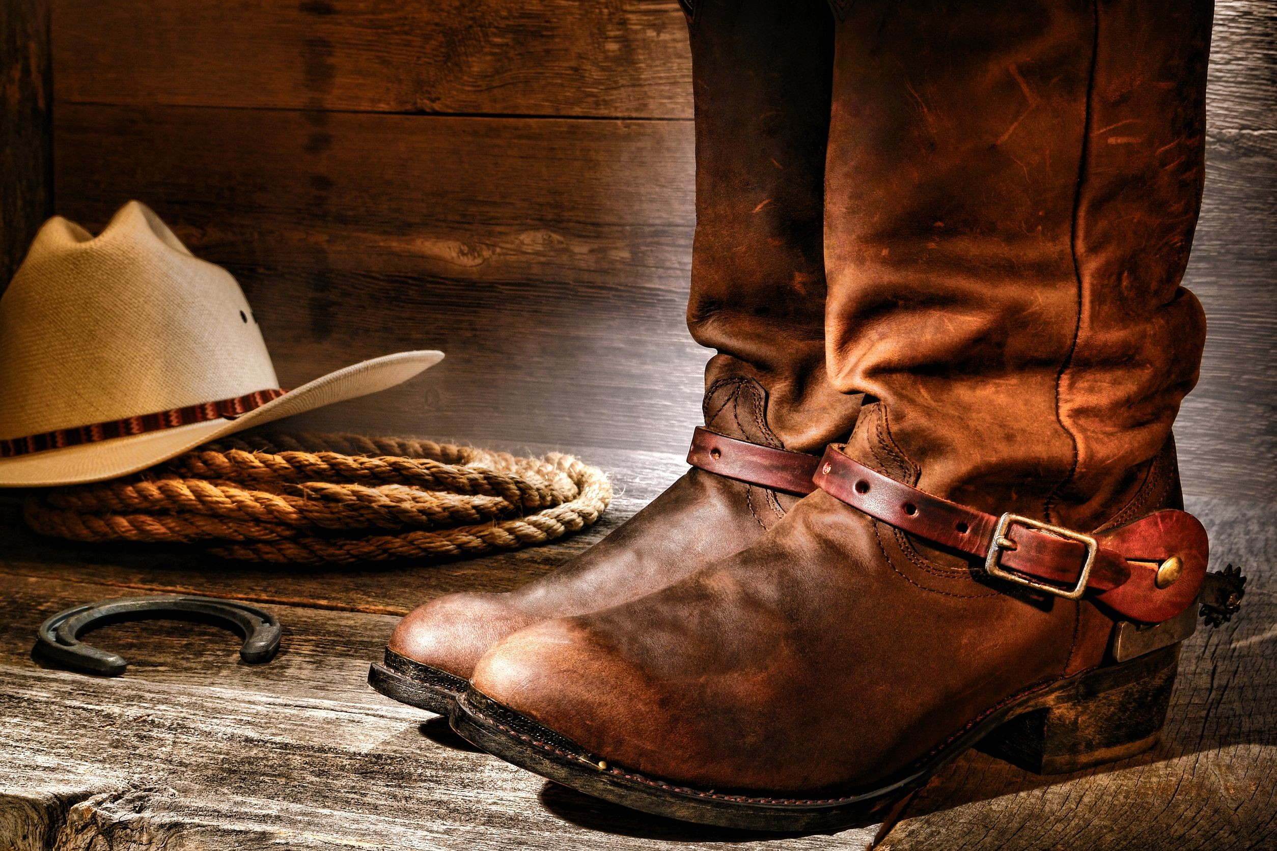 Res: 2508x1672, cowboy boots and hat