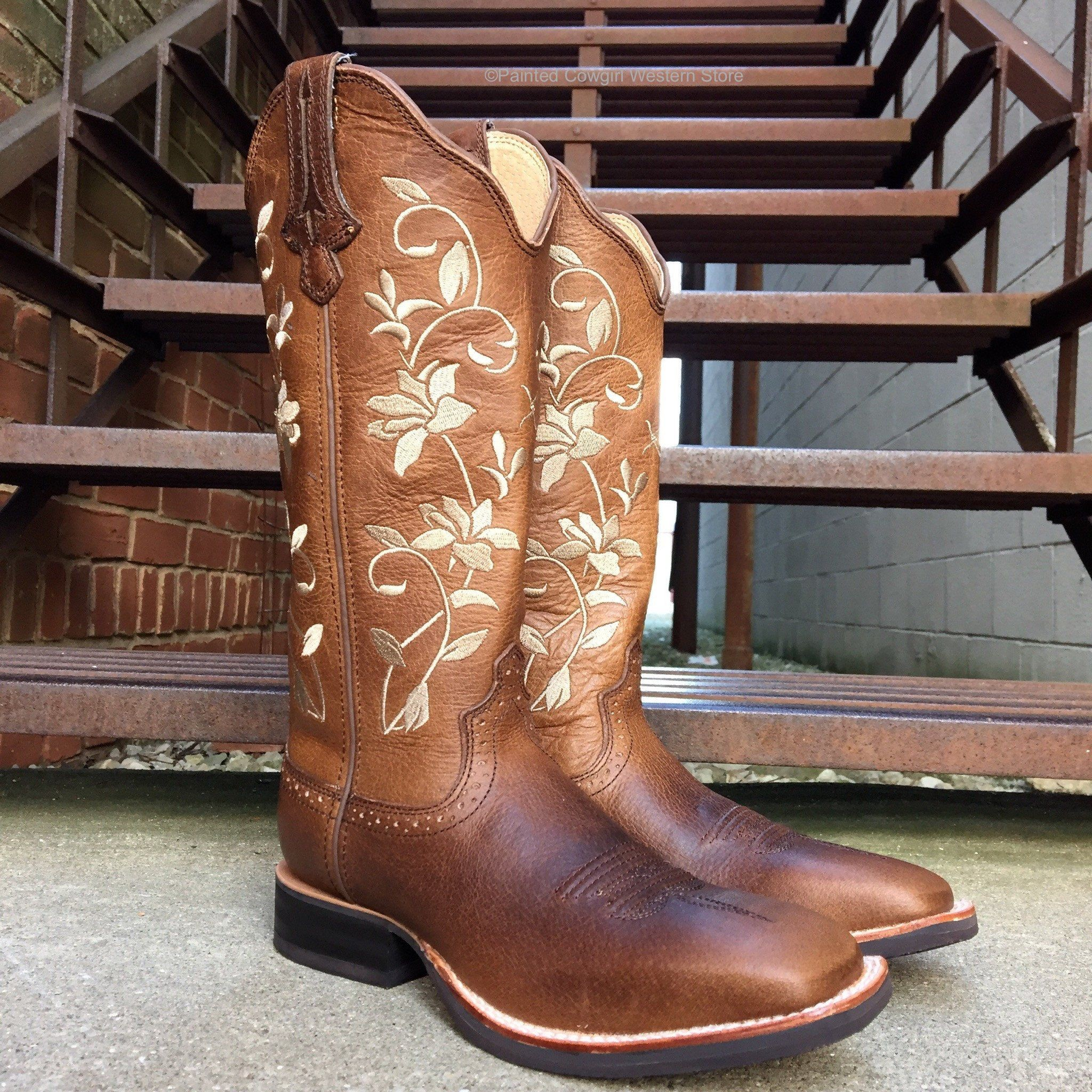 Res: 2048x2048, Twisted X Women's Floral Ruff Stock Square Toe Cowgirl Boot WRS0025