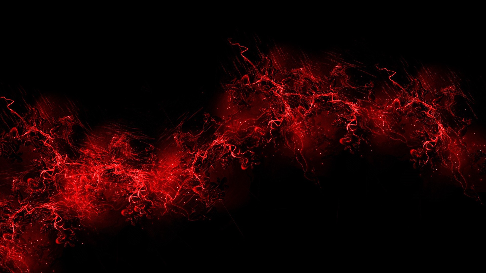 Res: 1920x1080,  Wallpaper black background, red, color, paint, explosion, burst
