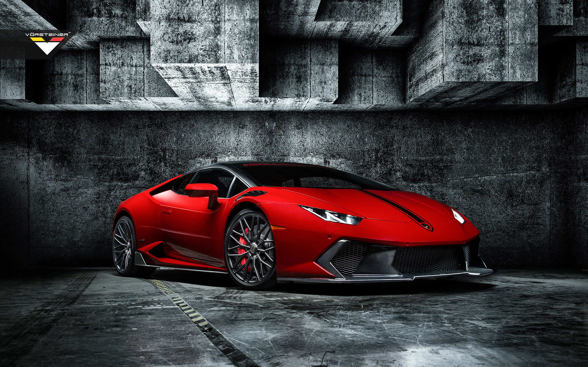 Res: 1920x1200, Lamborghini Huracan Red in Grey