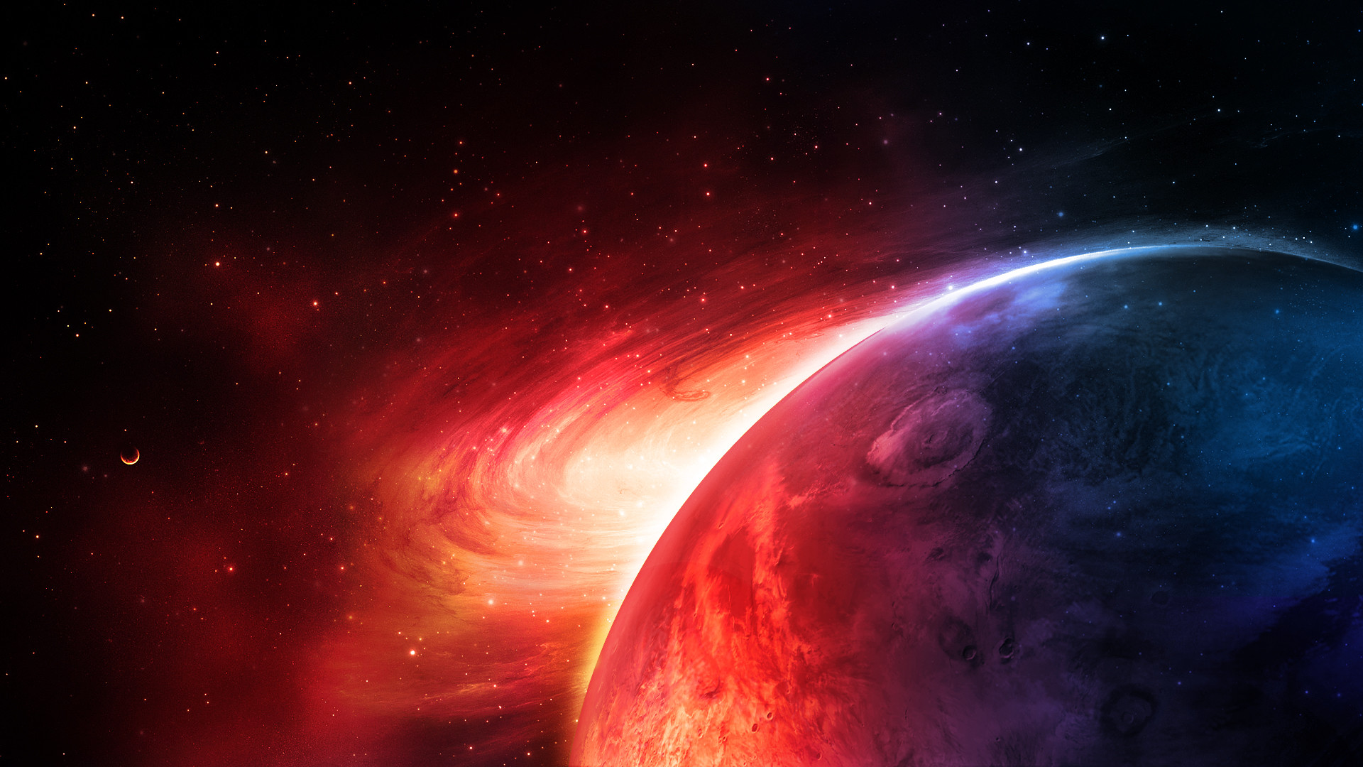Res: 1920x1080, Red Space