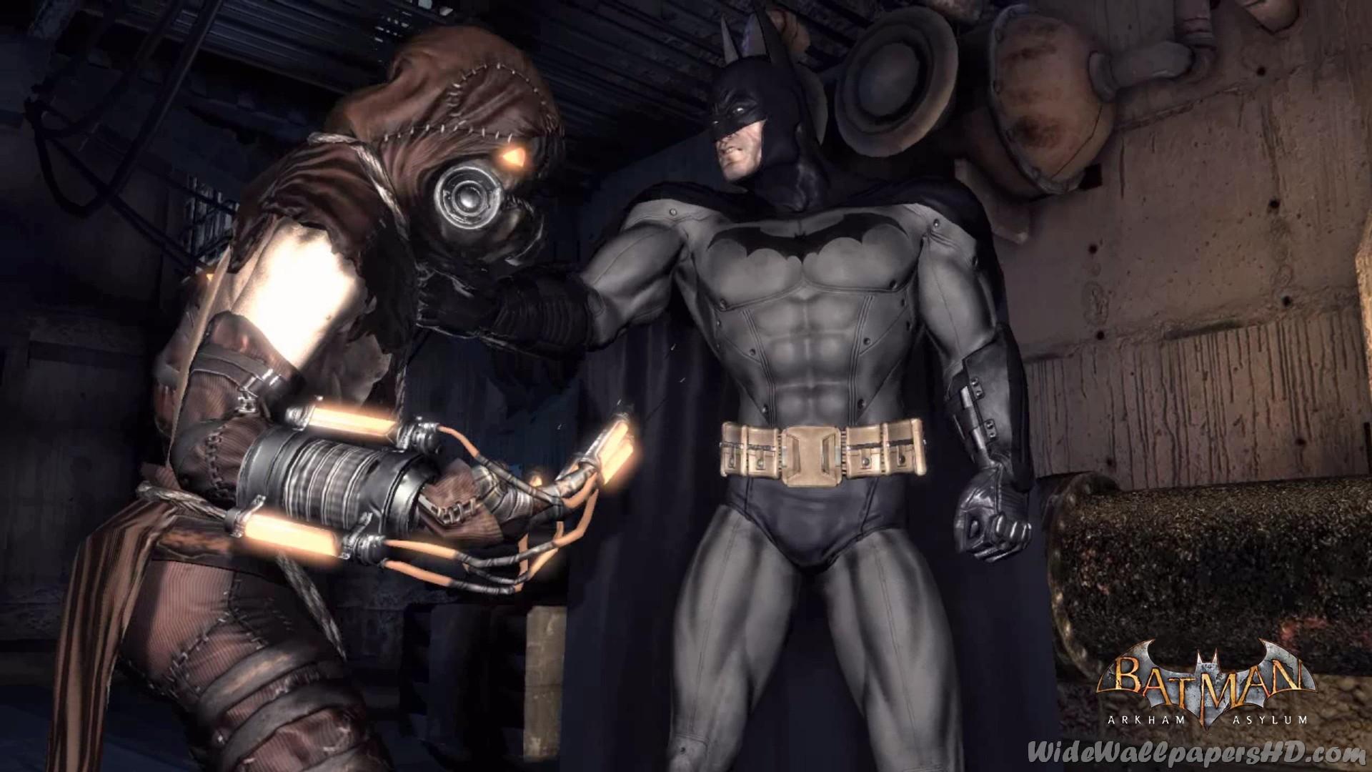 Res: 1920x1080, Batman-and-Scarecrow-Batman-Arkham-Asylum-Wallpapers-HD.jpg