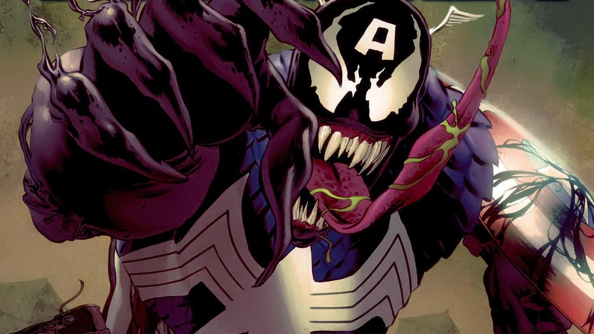 Res: 1920x1080, Comics Venom Captain America villains Marvel Comics wallpaper       223378   WallpaperUP