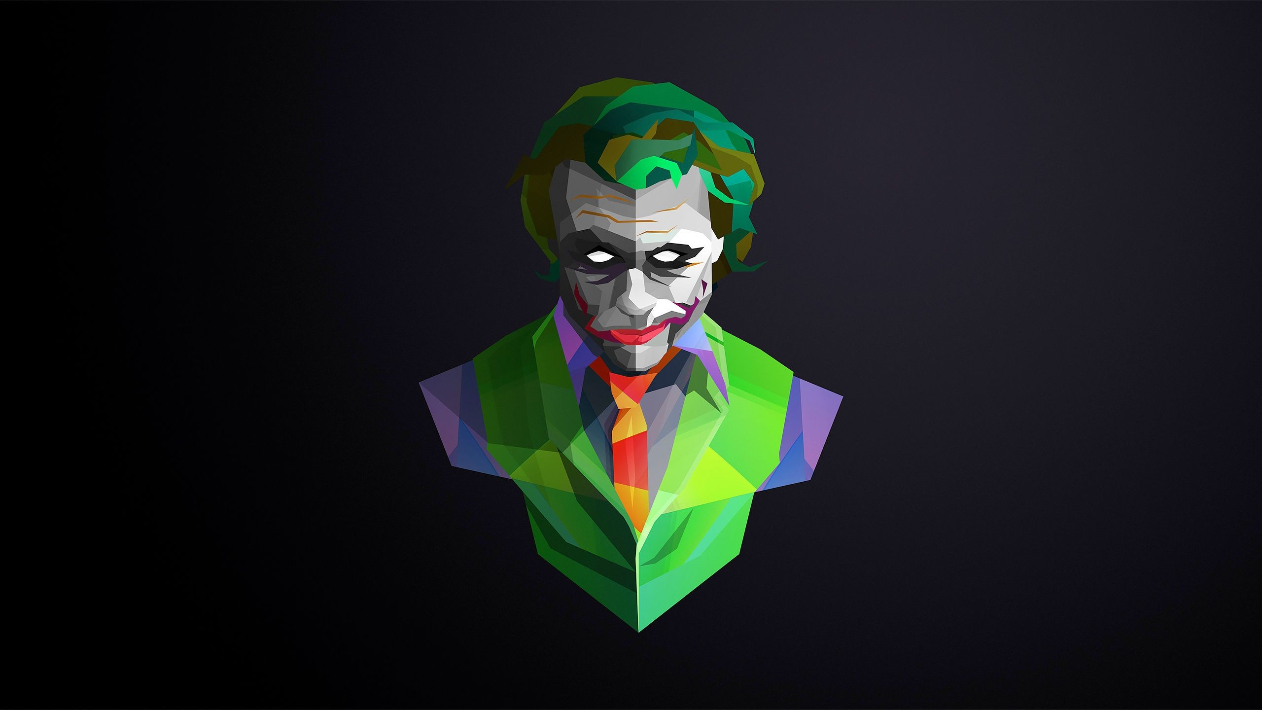 Res: 2560x1440, Joker-The Undefined Villain!!SuperVillain Wallpaper!!Full HD Created with  Sketch.