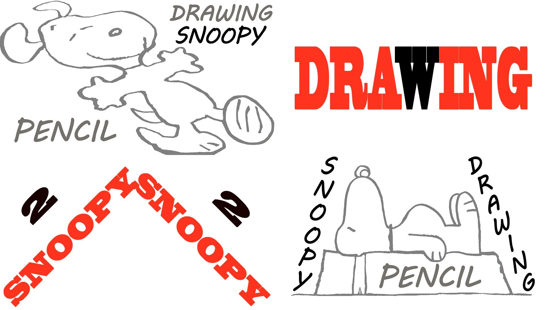 Res: 1920x1080, How to draw SNOOPY EASY: Snoopy on his doghouse and Snoopy dancing | PENCIL  | #MrUsegoodART - YouTube