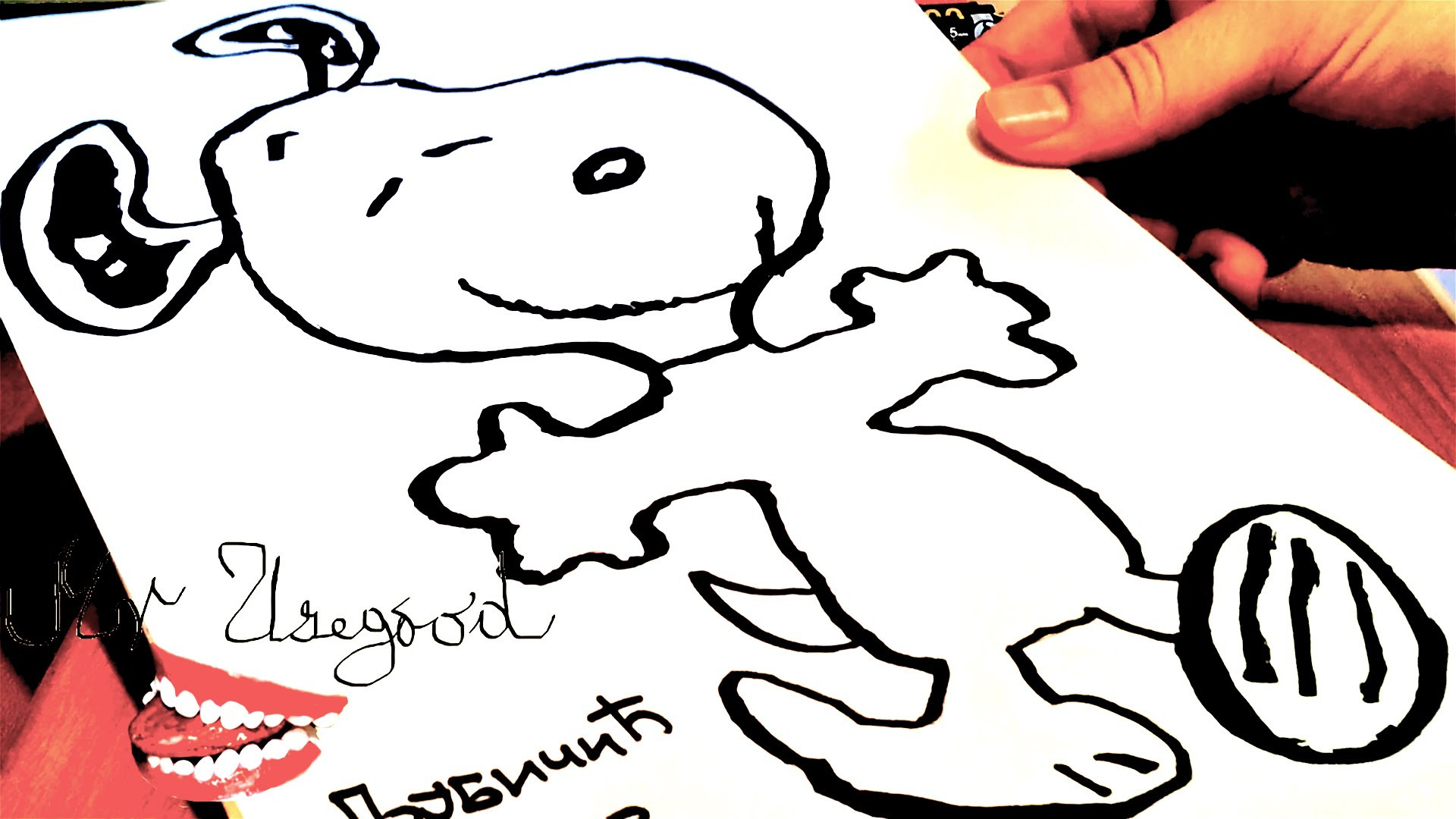 Res: 1920x1080, Cool Easy Drawings For Kids How To Draw Snoopy Easy Dancing For Kids |  #mrusegoodart