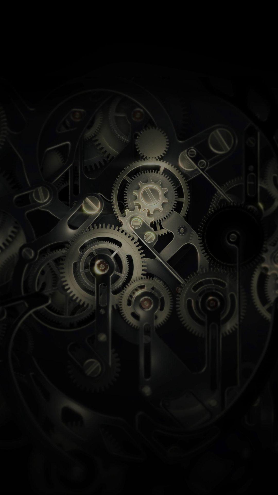 Res: 1080x1920, Huawei Mate Gear Dark Illust Art iPhone 6 wallpaper