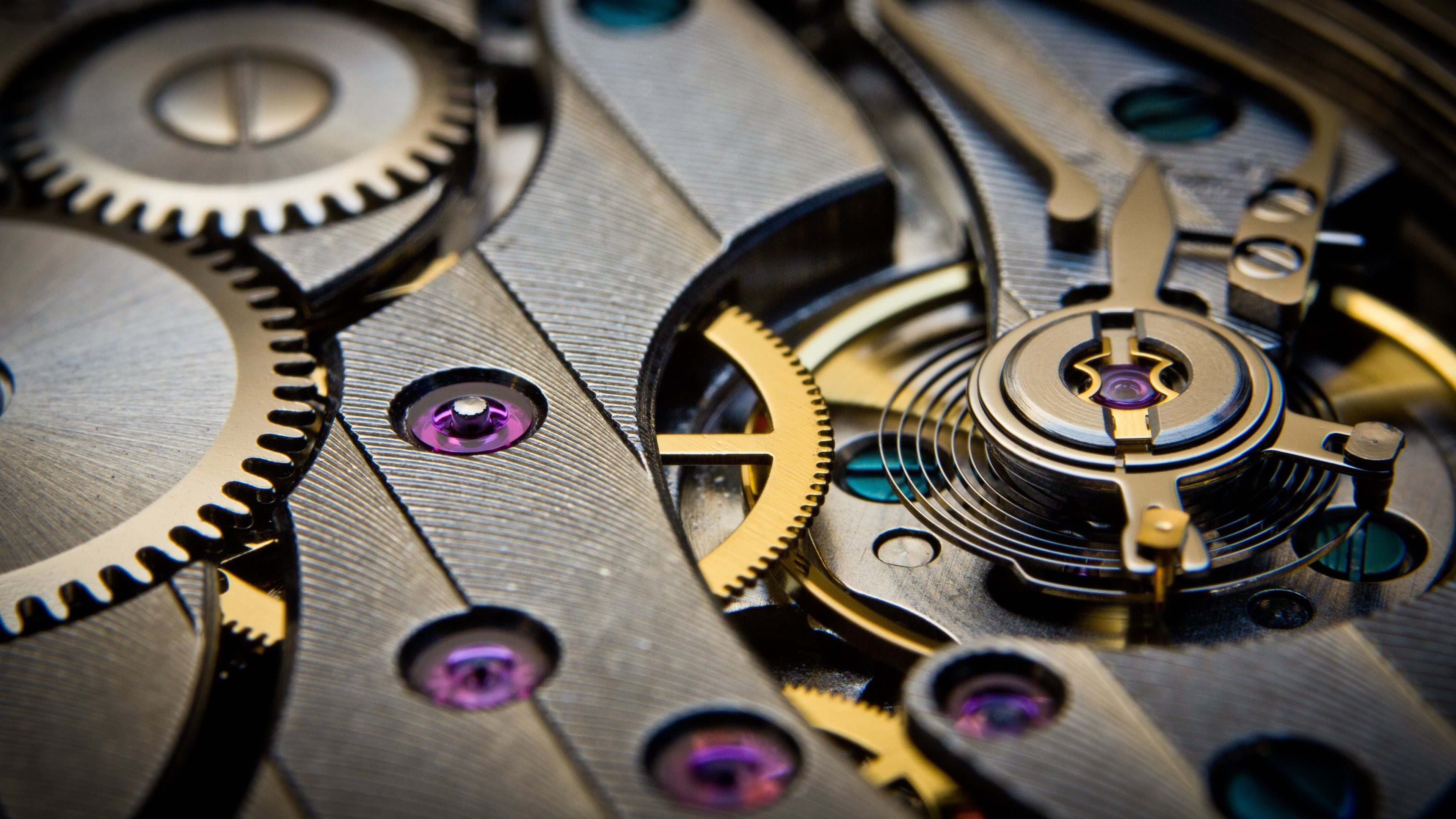 Res: 3840x2160, Gears. Movement. Watch. Time Wallpapers :: HD Wallpapers