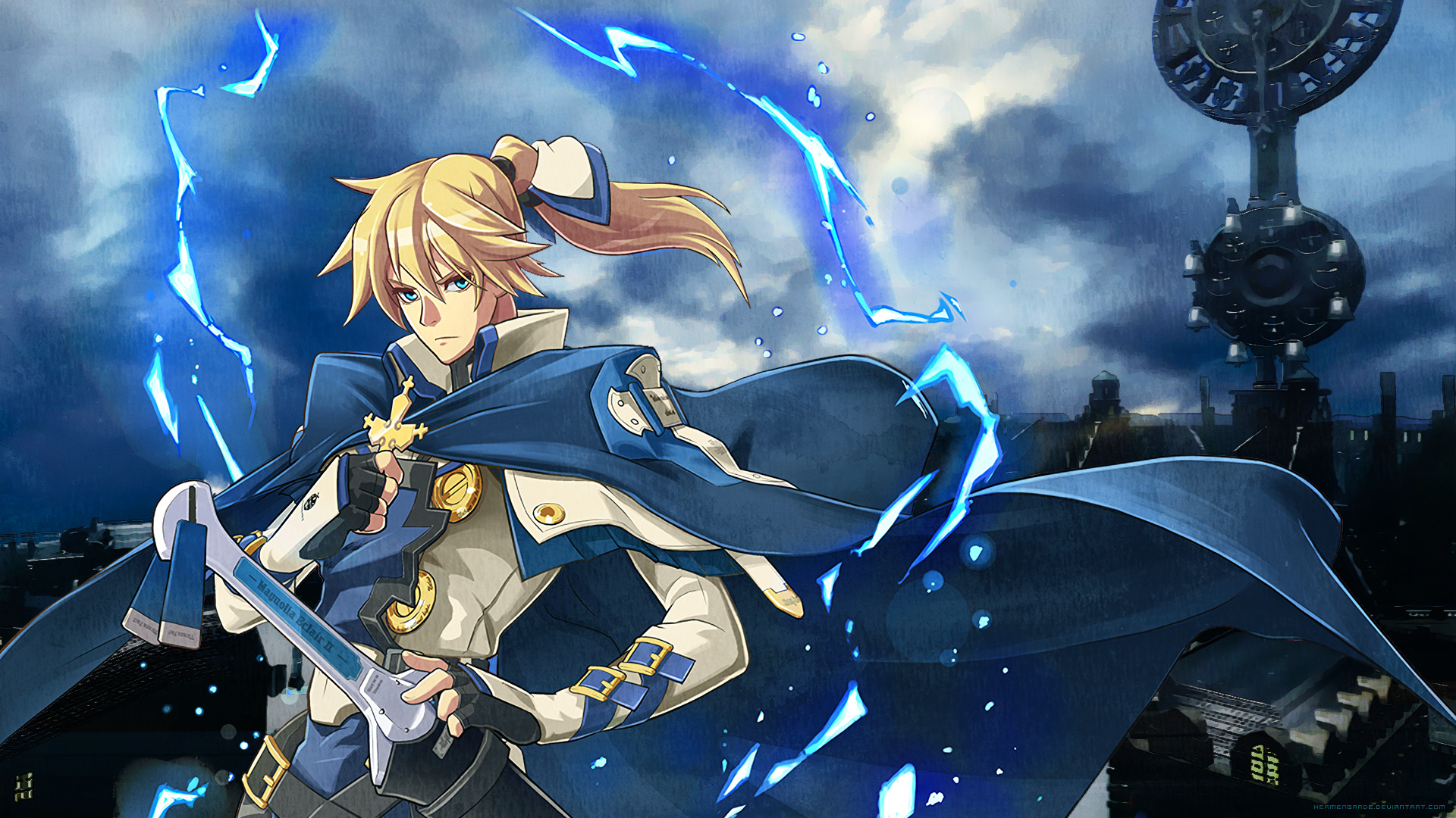 Res: 1920x1080, ... Ky Kiske - Illyria Wallpaper (Guilty Gear) by hermengarde