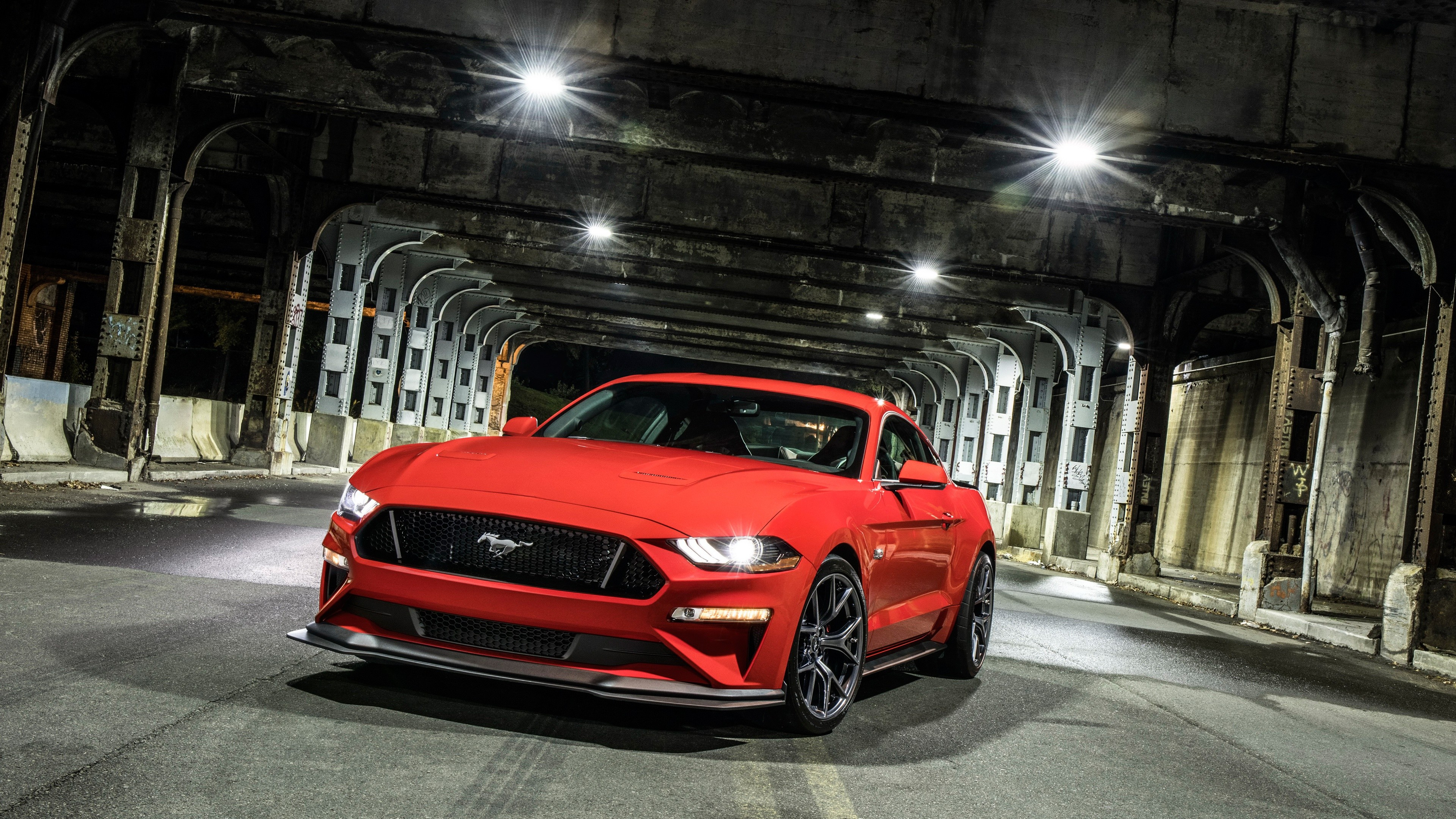 Res: 3840x2160, Fahrzeuge - Ford Mustang GT Muscle Car Red Car Autos Fahrzeug Ford Mustang  Ford Wallpaper