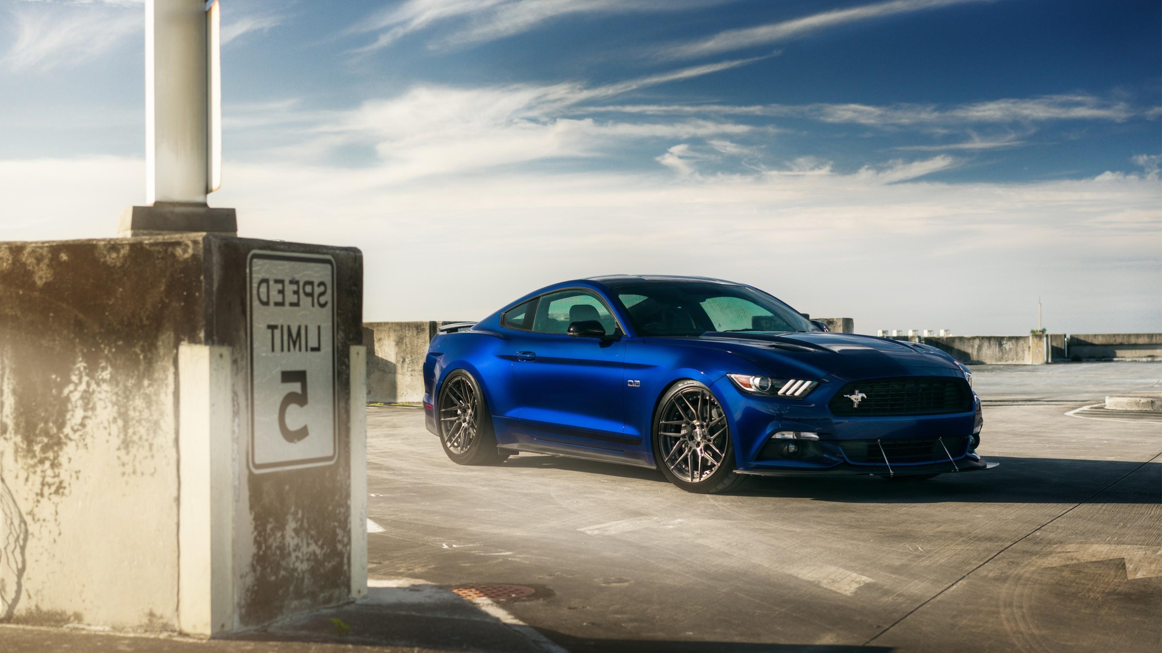 Res: 3840x2160, Adv Wheels Ford Mustang V8