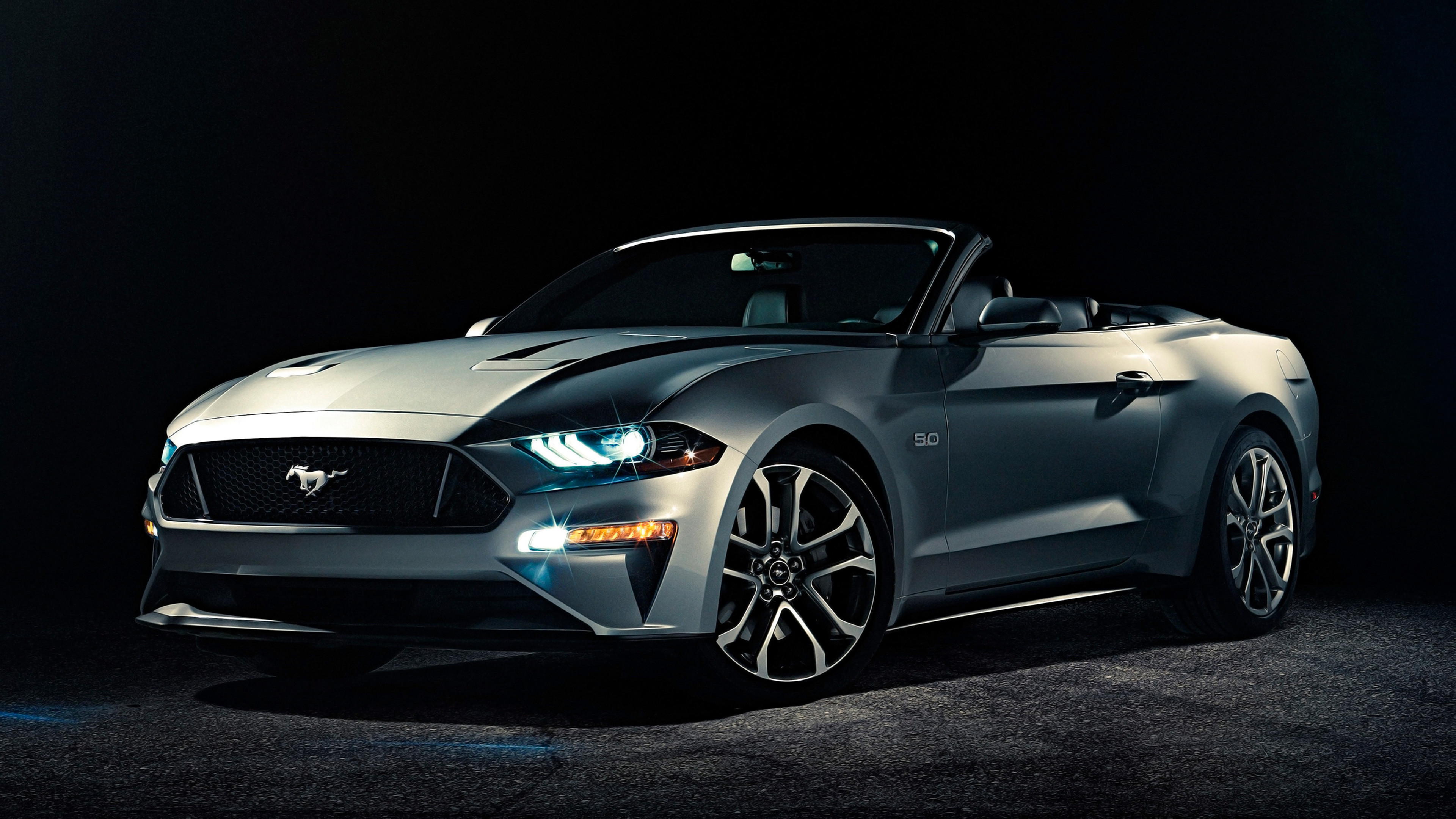 Res: 3840x2160, Tags: Convertible Ford Mustang 2018