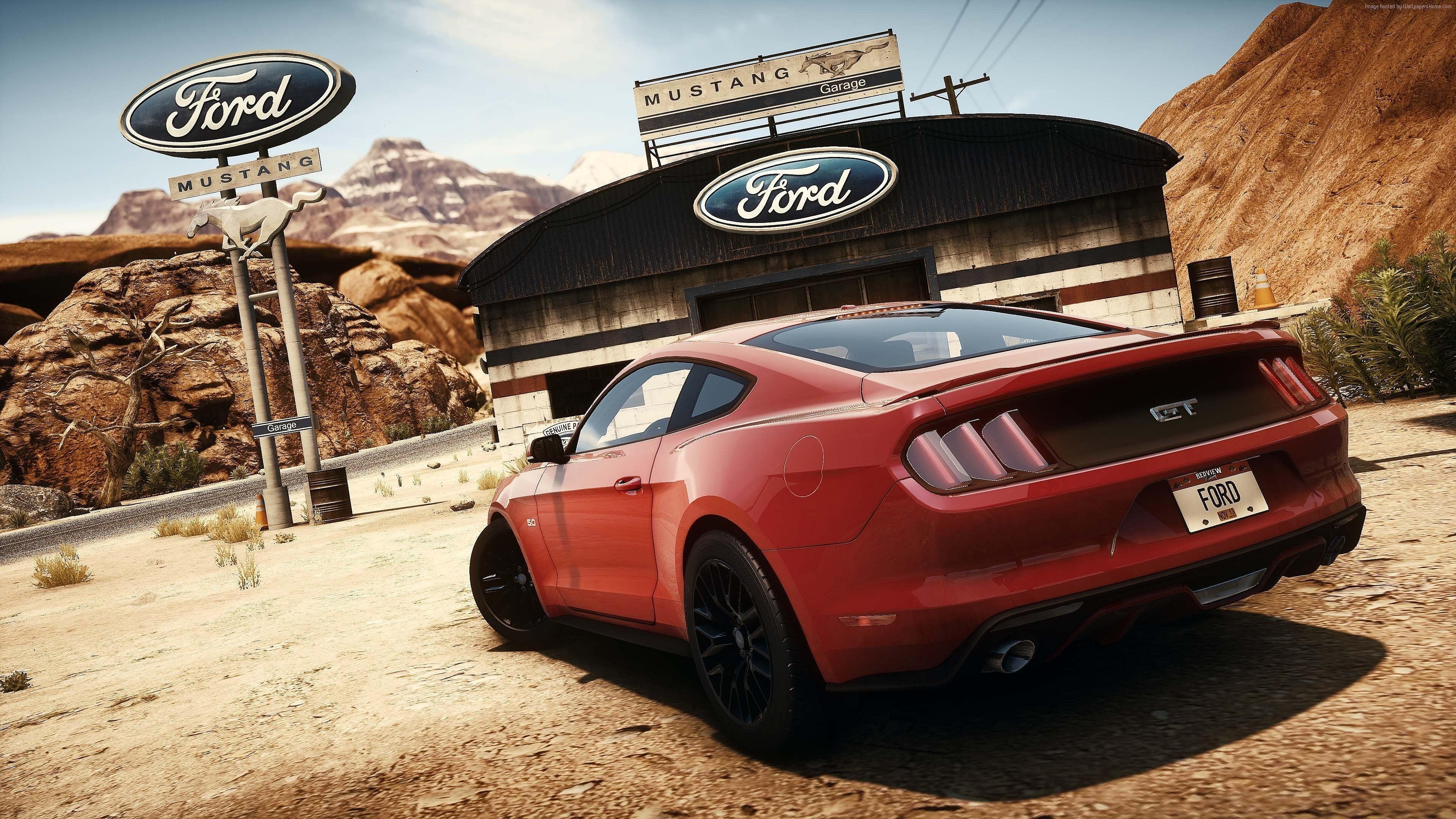 Res: 3840x2160, Notwendigkeit Für Geschwindigkeit Ford Mustang 4k Ultra Hd Hintergründe  Wallpaper Pc