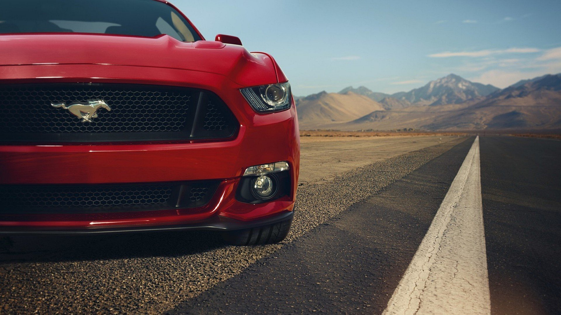 Res: 1920x1080, Ford Mustang Gt Rot Front Muscle Auto Autos Hd 4k Tapeten 3d Wallpaper