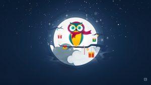 Owl Christmas wallpapers
