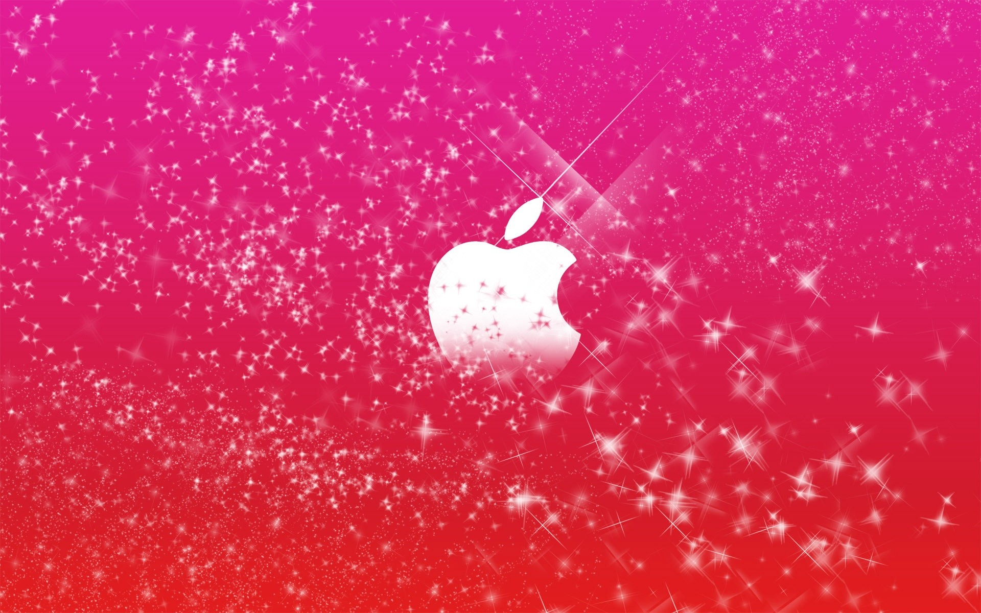 Res: 1920x1200, Sparkly Apple Wallpaper