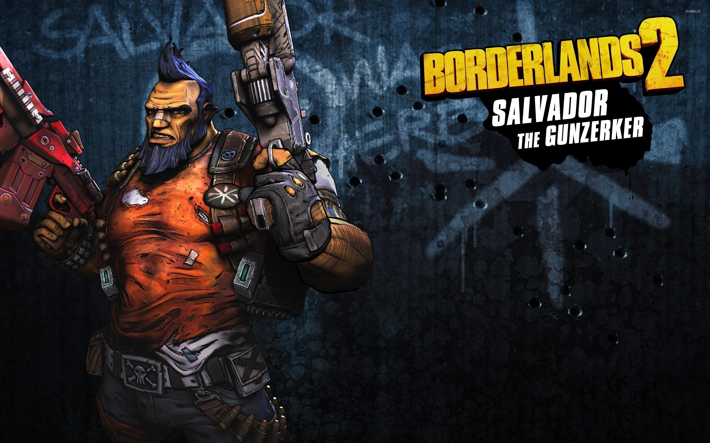 Res: 2880x1800, Salvador the Gunzerker with guns - Borderlands 2 wallpaper