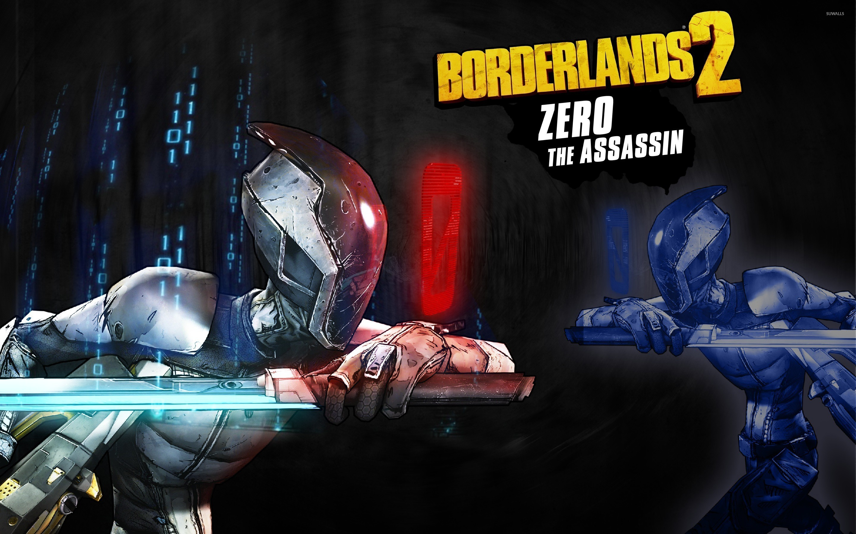 Res: 2880x1800, Zero the Assassin with a sword - Borderlands 2 wallpaper  jpg