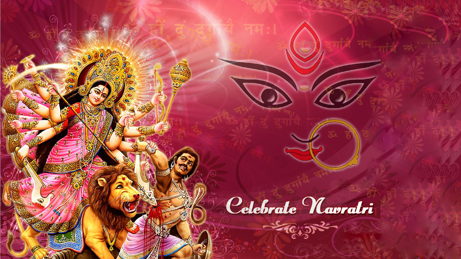 Res: 1920x1080, Navratri Maa Durga HD Images Wallpapers Free Download