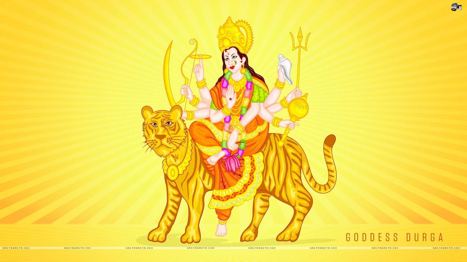 Res: 1920x1080,  Maa Sherawali Wallpaper