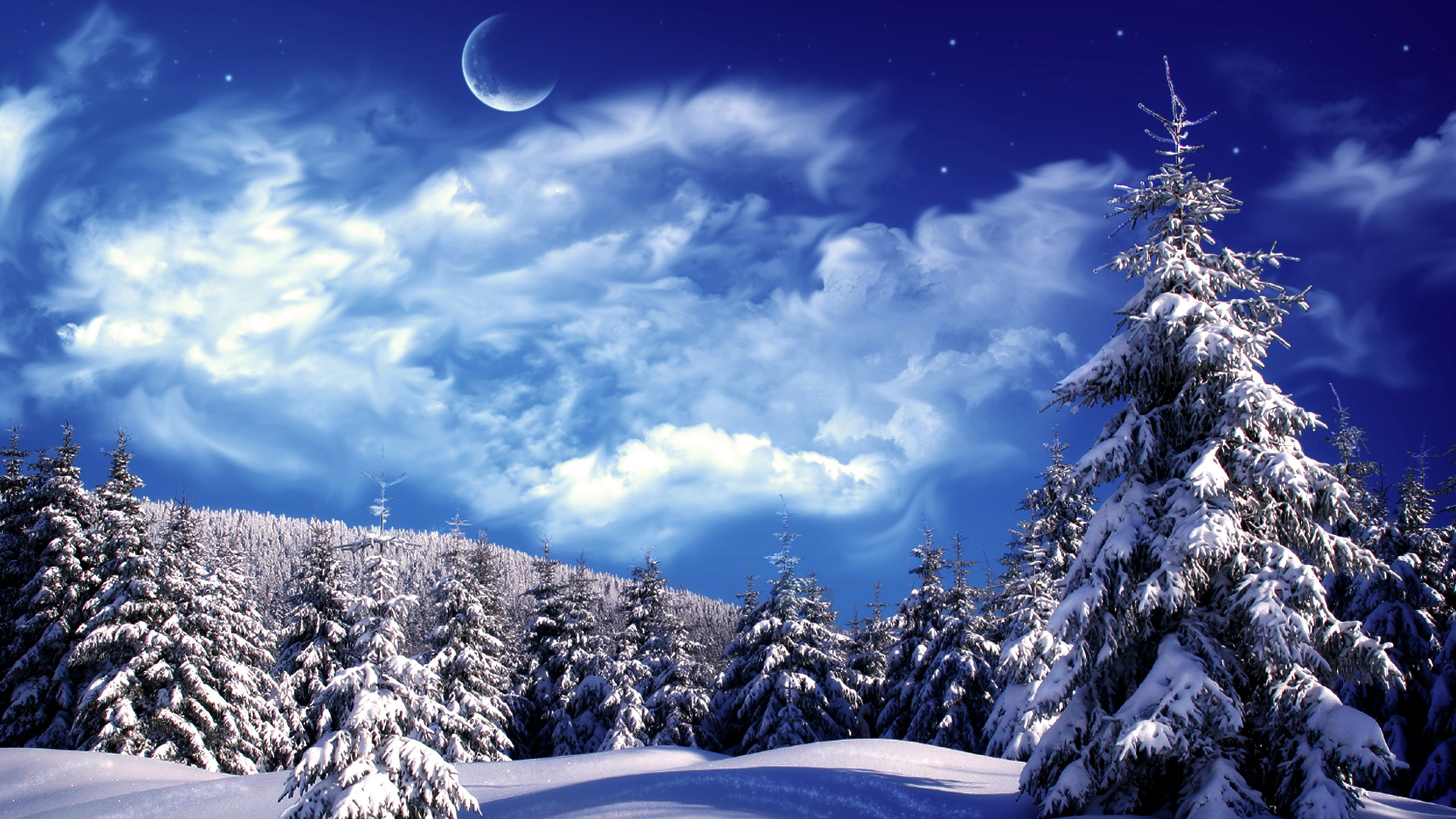 Res: 2560x1440, Winter And Snow Scenes | Free Desktop Wallpapers for Widescreen, HD and  Mobile