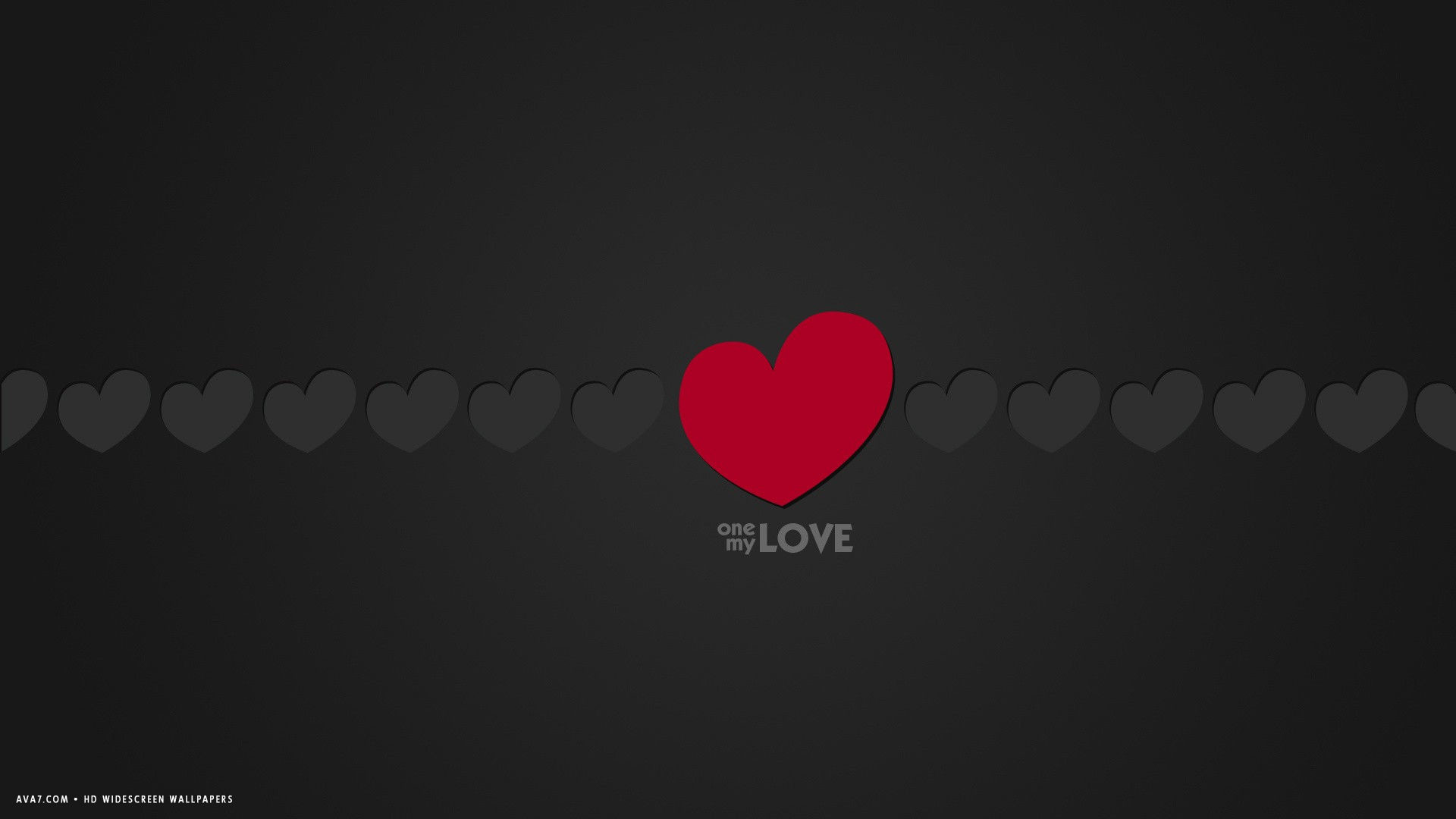 Res: 1920x1080, love word one my love minimalistic red grey hearts hd widescreen wallpaper