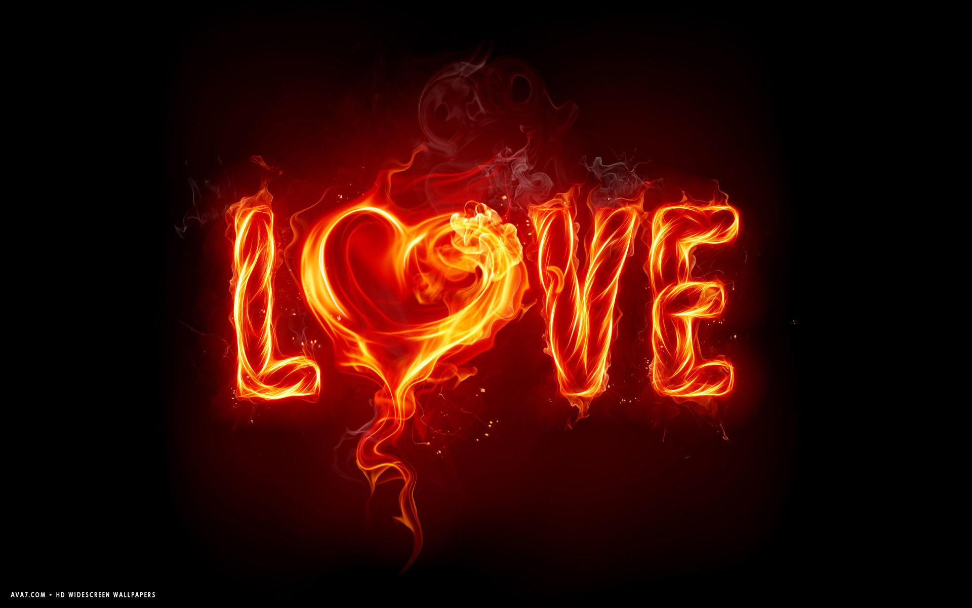 Res: 1920x1200, love word burning heart hot hd widescreen wallpaper
