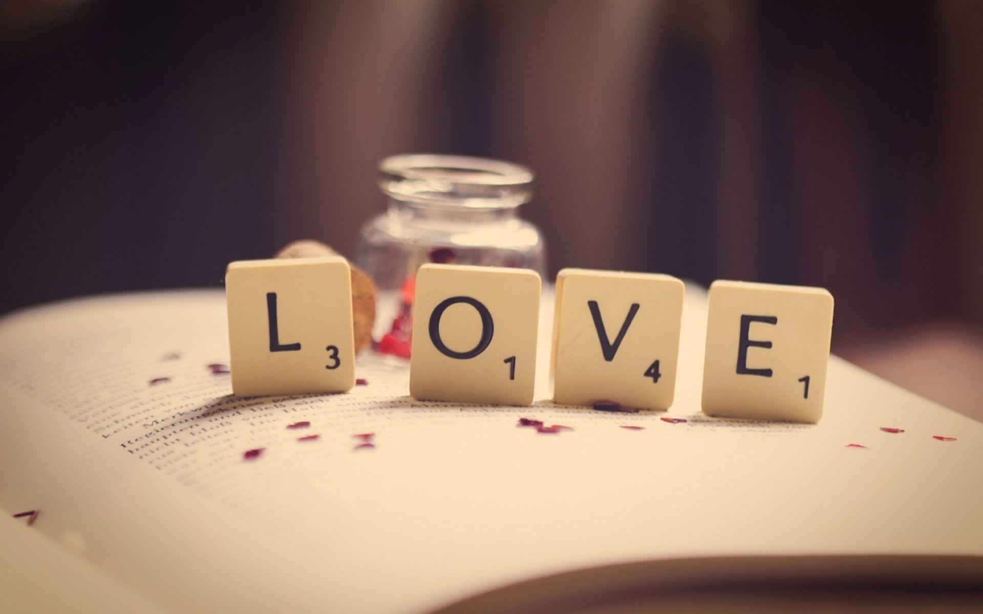 Res: 1920x1200, Book Love Word Letters Numbers Macro Wallpaper | HD Love Wallpaper Free  Download ...