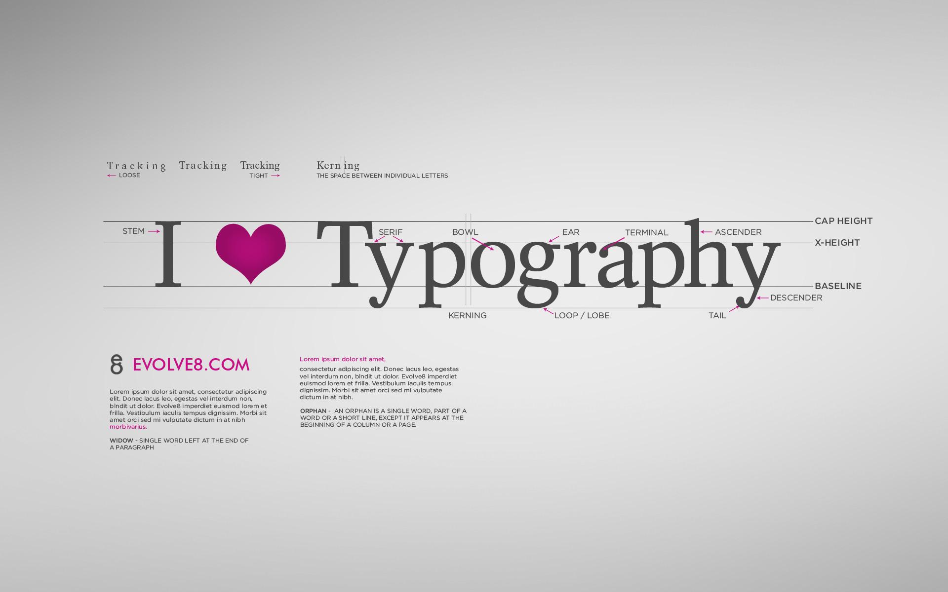 Res: 1920x1200, I Love Typography