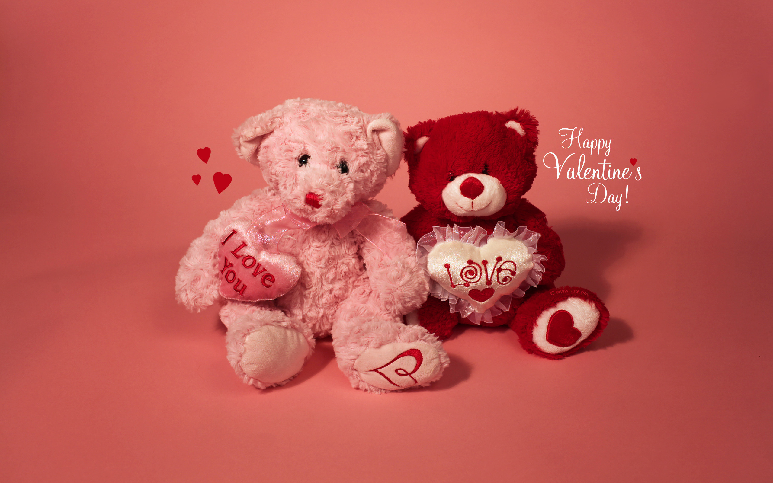 Res: 2560x1600, Teddy bears, Happy Valentine's Day, Love You, ...